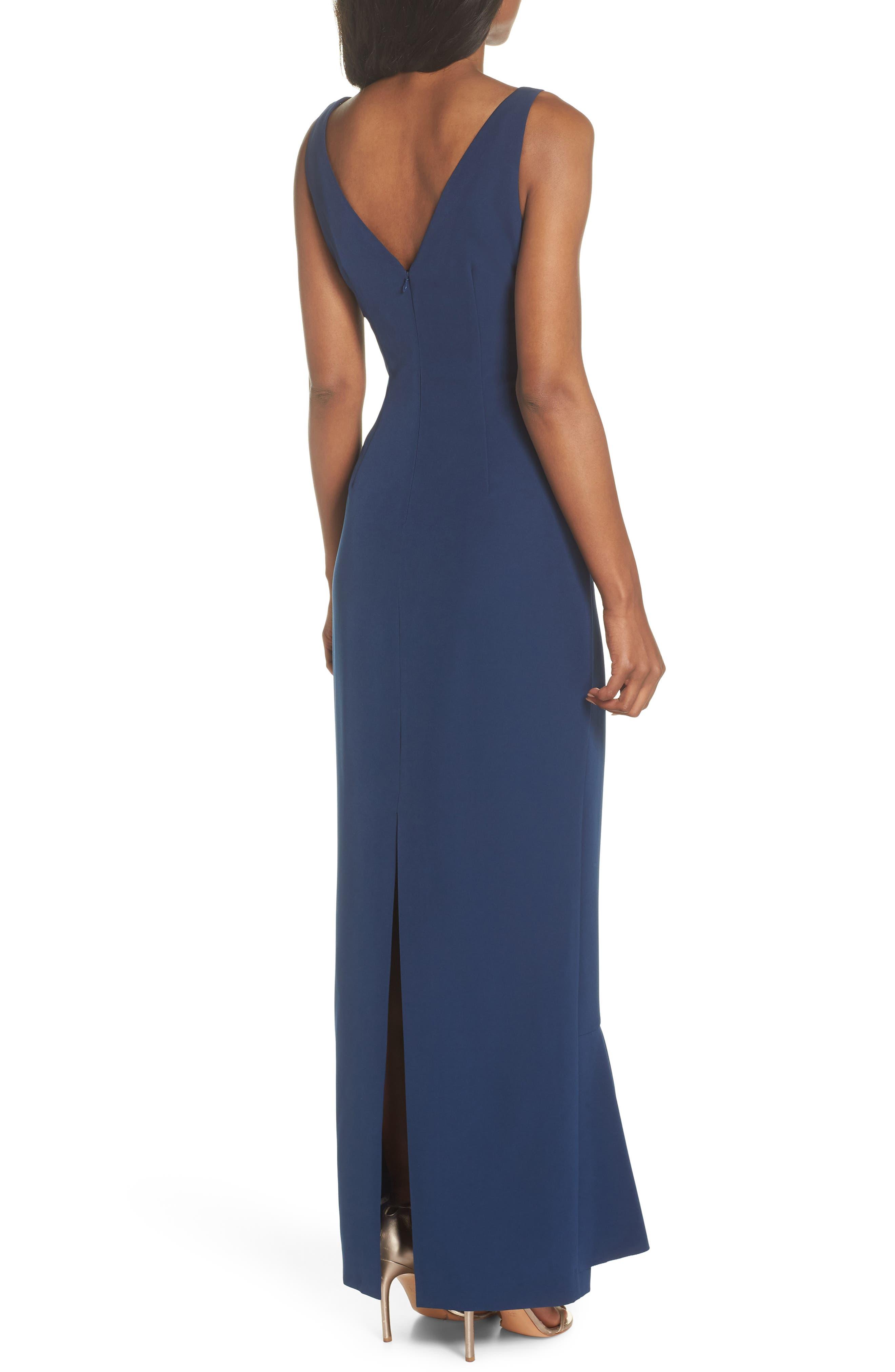 Laguna Faux Wrap Gown,                             Alternate thumbnail 2, color,                             BLUE