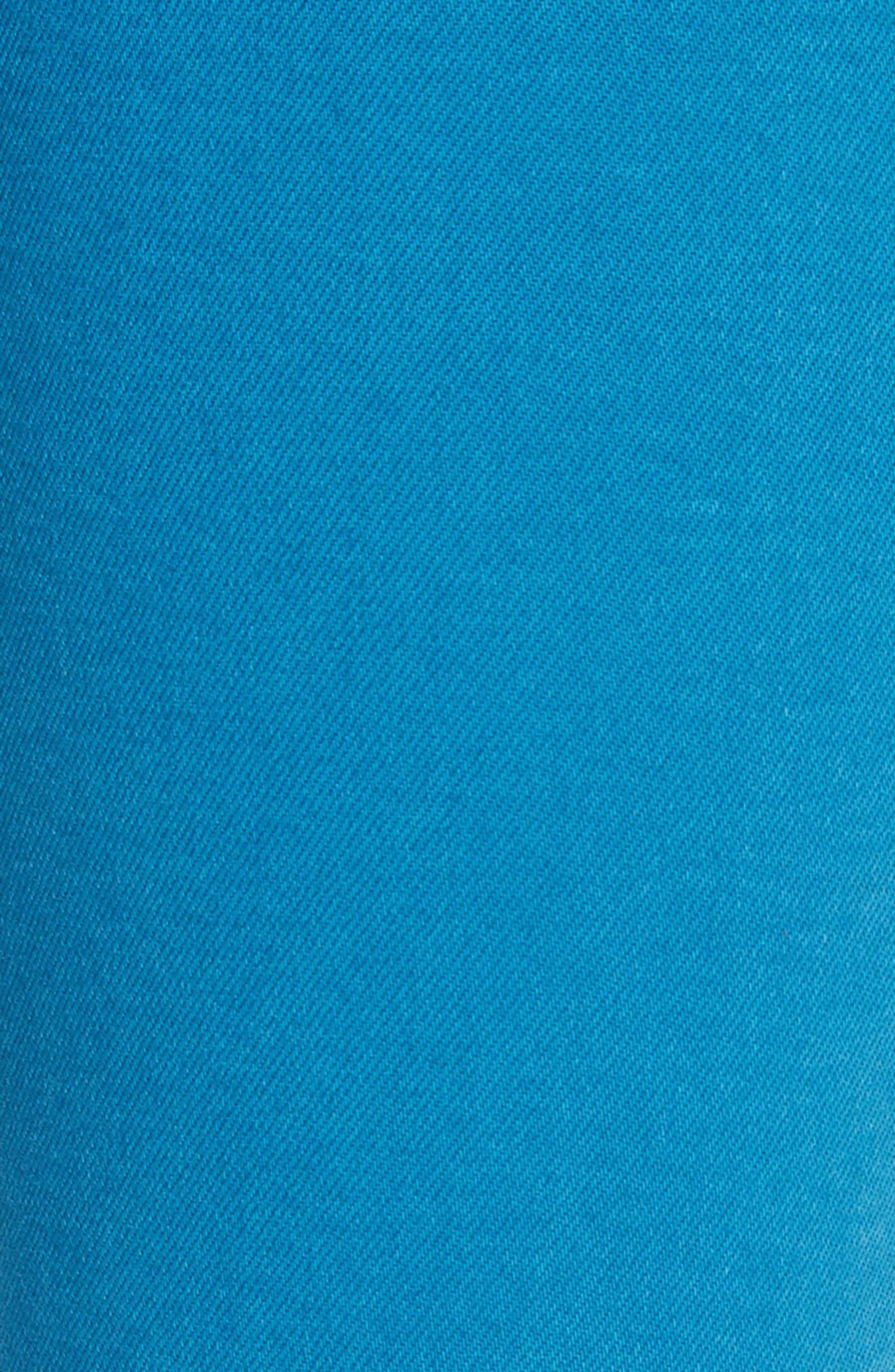 W4 Shelter Wide Leg Crop Jeans,                             Alternate thumbnail 5, color,                             PEACOCK BLUE