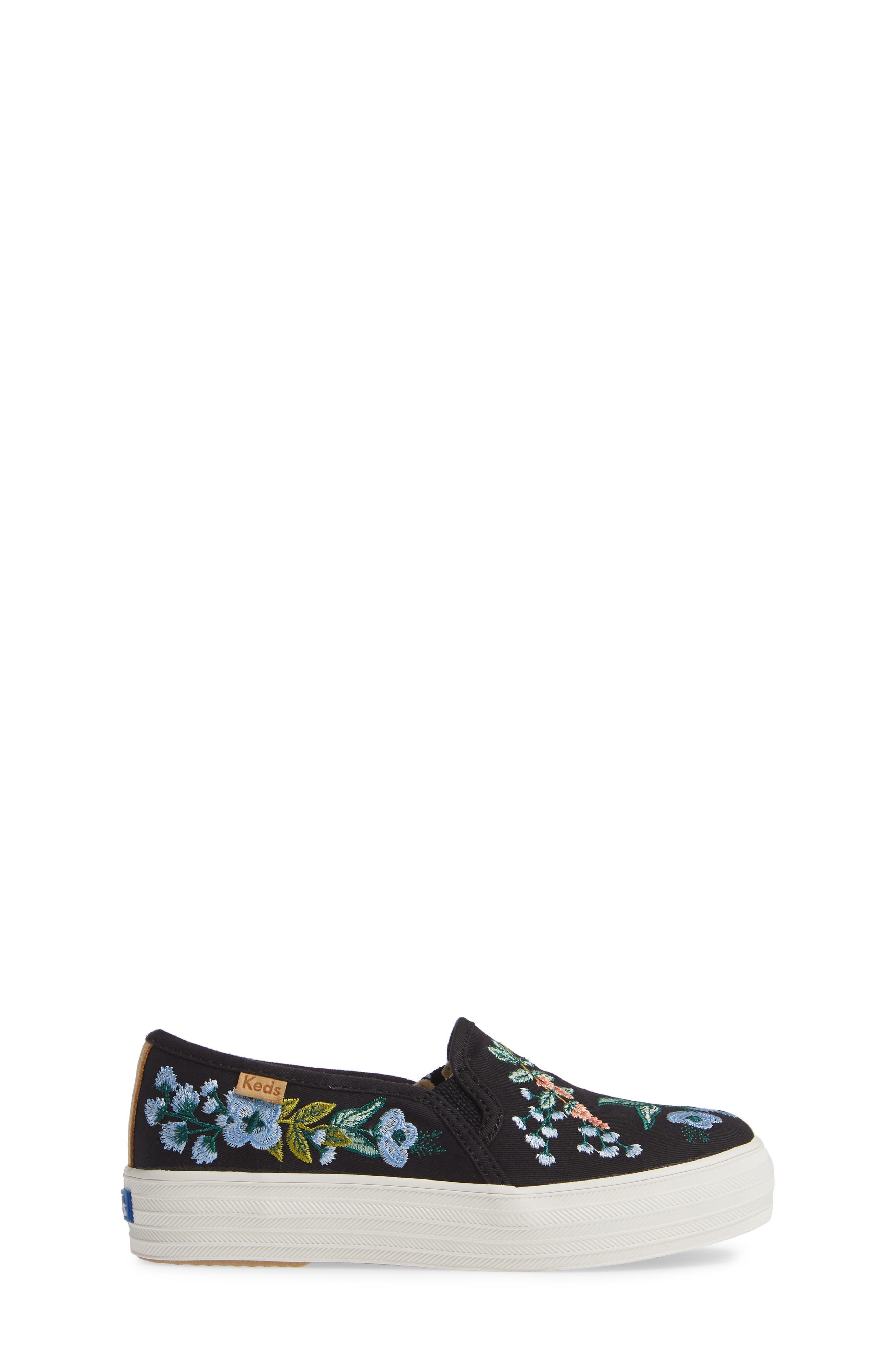 x Rifle Paper Co. Birch Triple Decker Slip-On Sneaker,                             Alternate thumbnail 3, color,                             HERB GARDEN