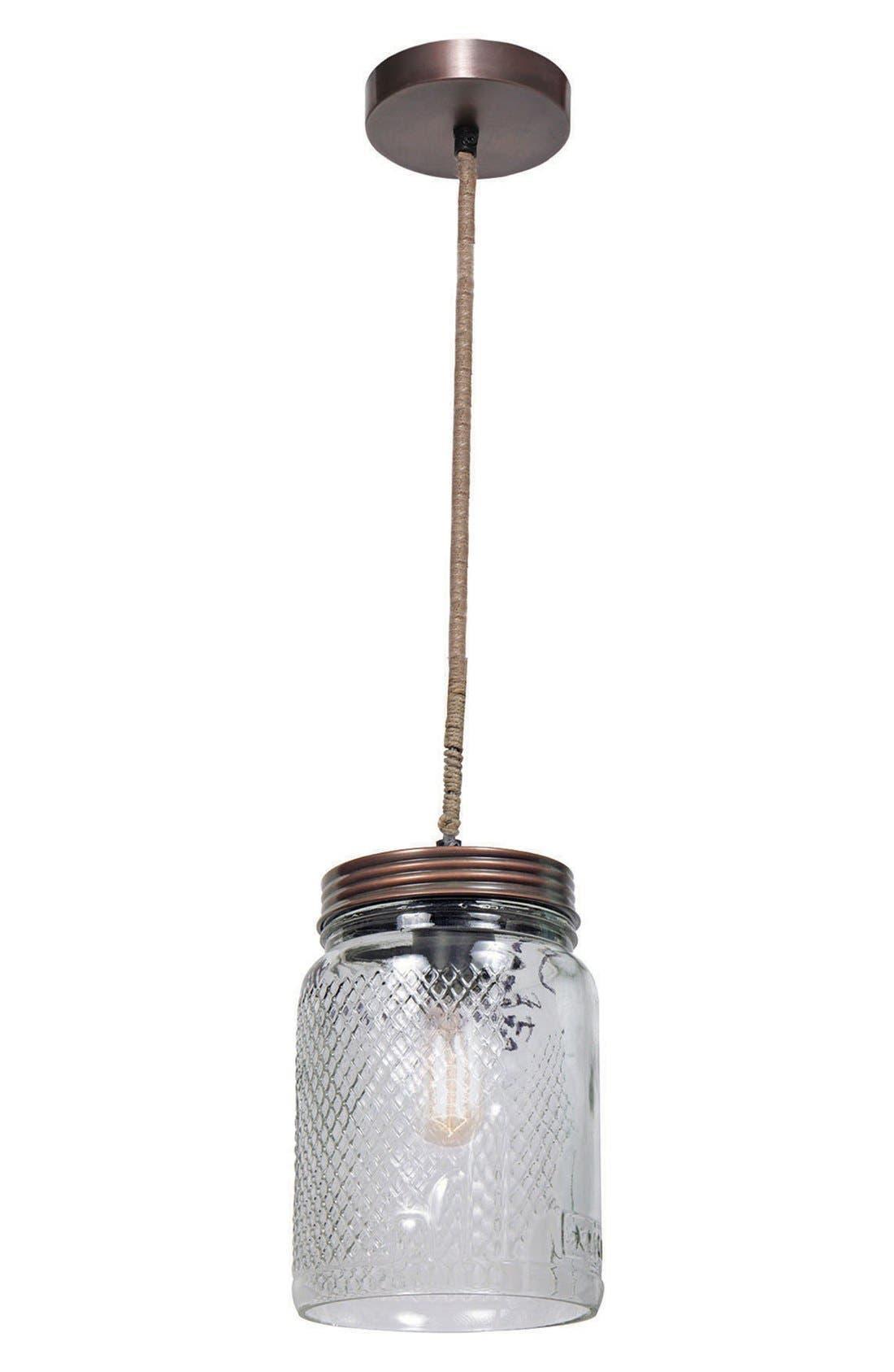 'Mason Jar' Ceiling Light Fixture,                             Main thumbnail 1, color,