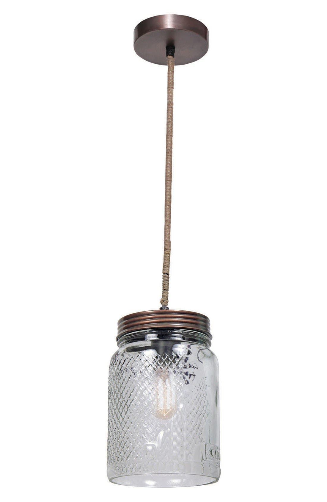 'Mason Jar' Ceiling Light Fixture,                         Main,                         color,