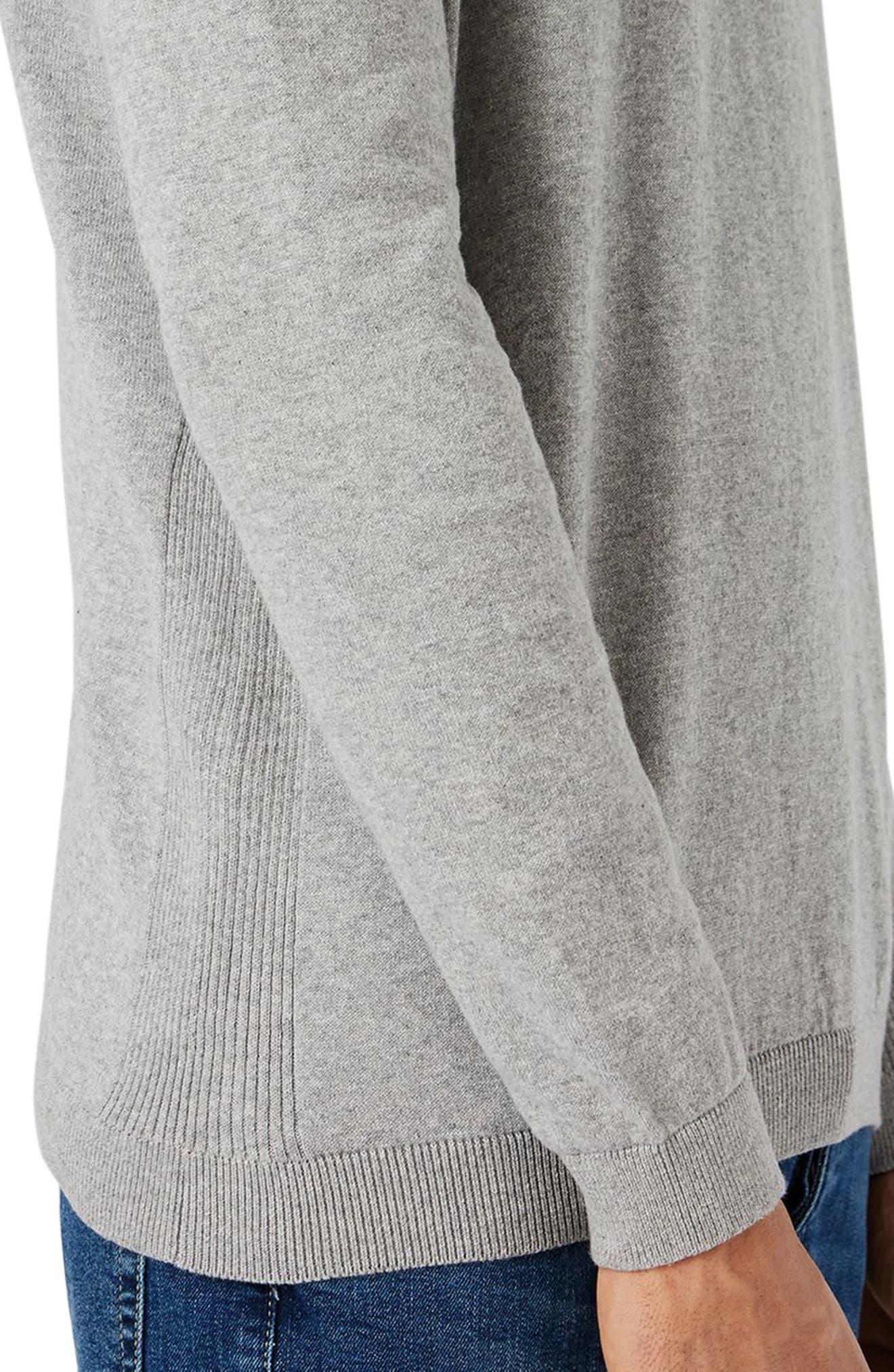 Side Rib Cotton Sweater,                             Alternate thumbnail 10, color,