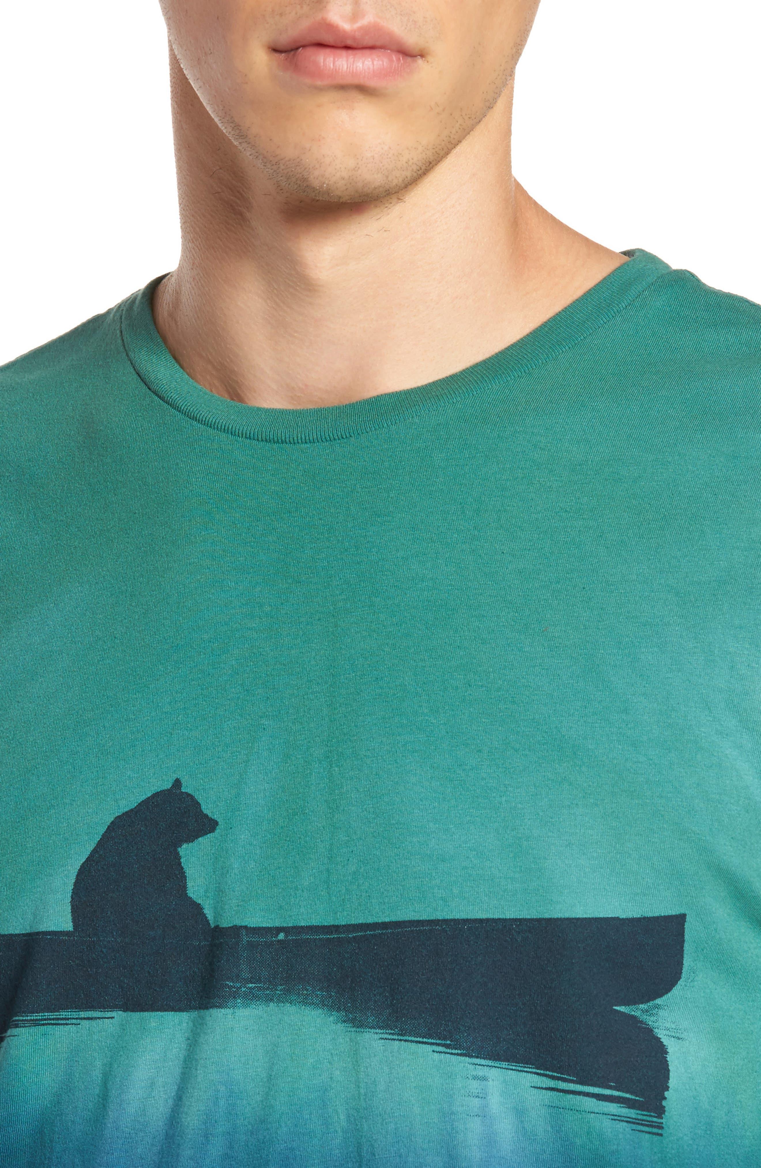 Up a Creek T-Shirt,                             Alternate thumbnail 4, color,                             ALGAE/ NAVY