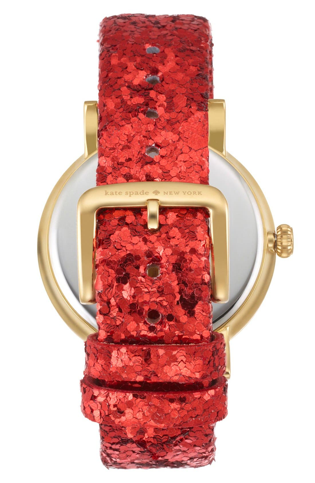 KATE SPADE NEW YORK,                             'metro' crystal bezel watch & straps set, 38mm,                             Alternate thumbnail 5, color,                             001