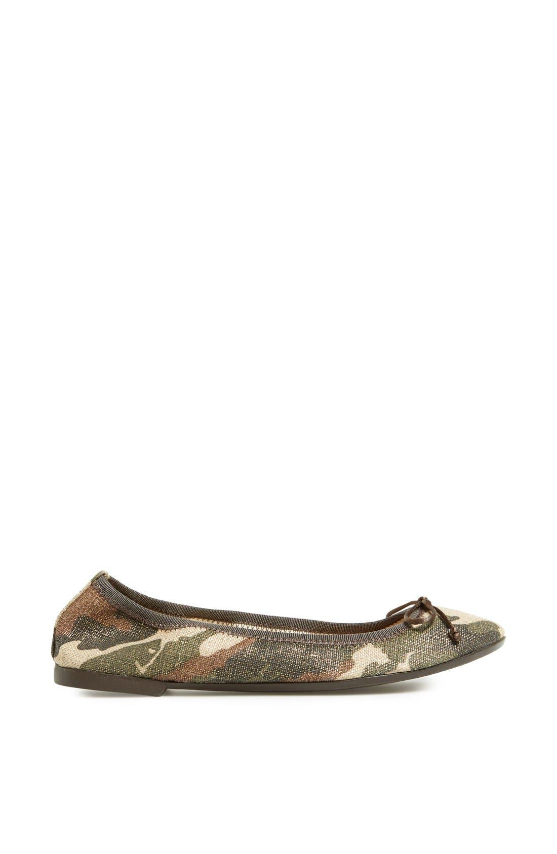 Camouflage Ballet Flat,                             Alternate thumbnail 3, color,                             340