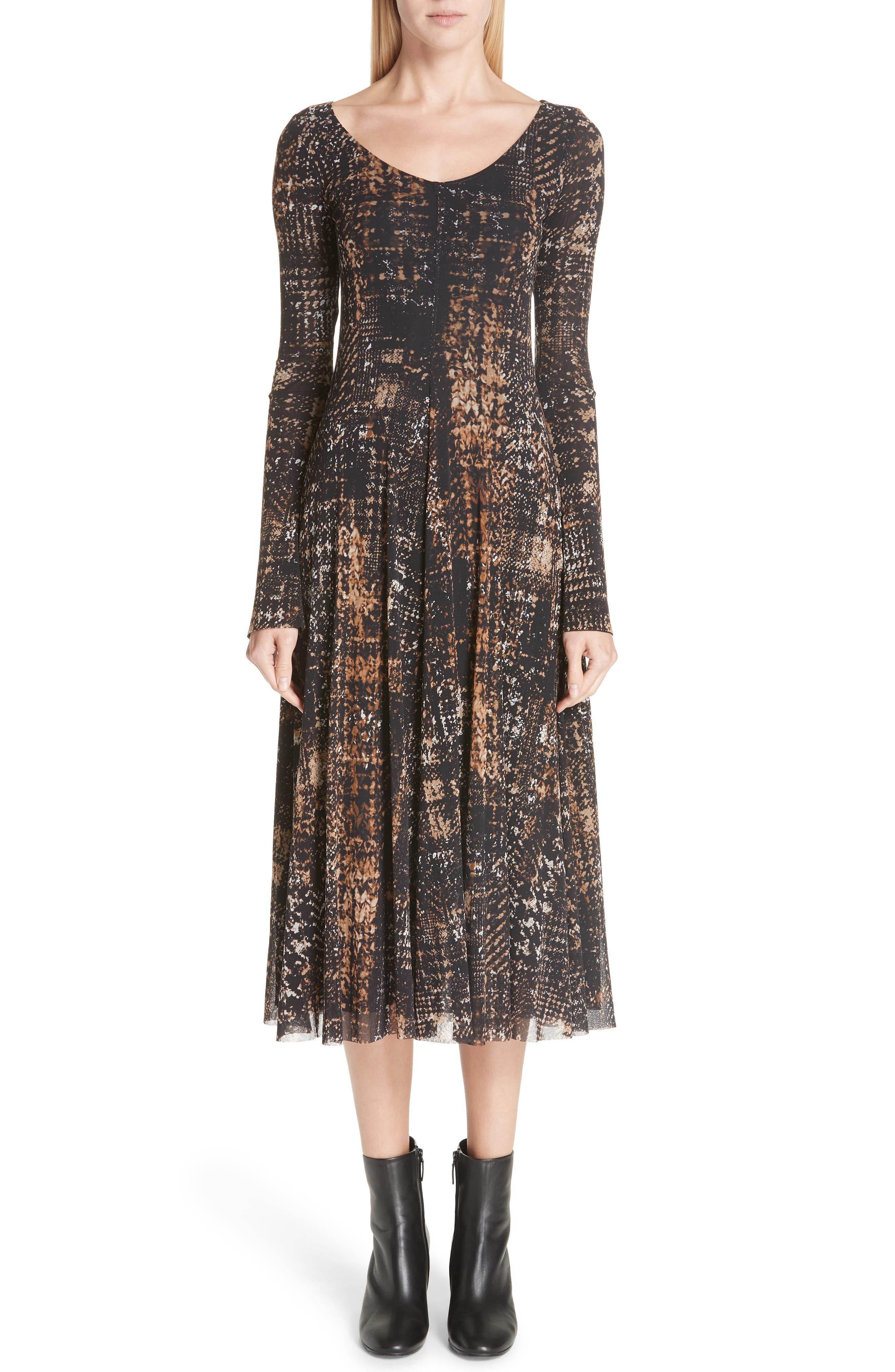 Fuzzi Plaid Tulle Two-Way Dress, Black