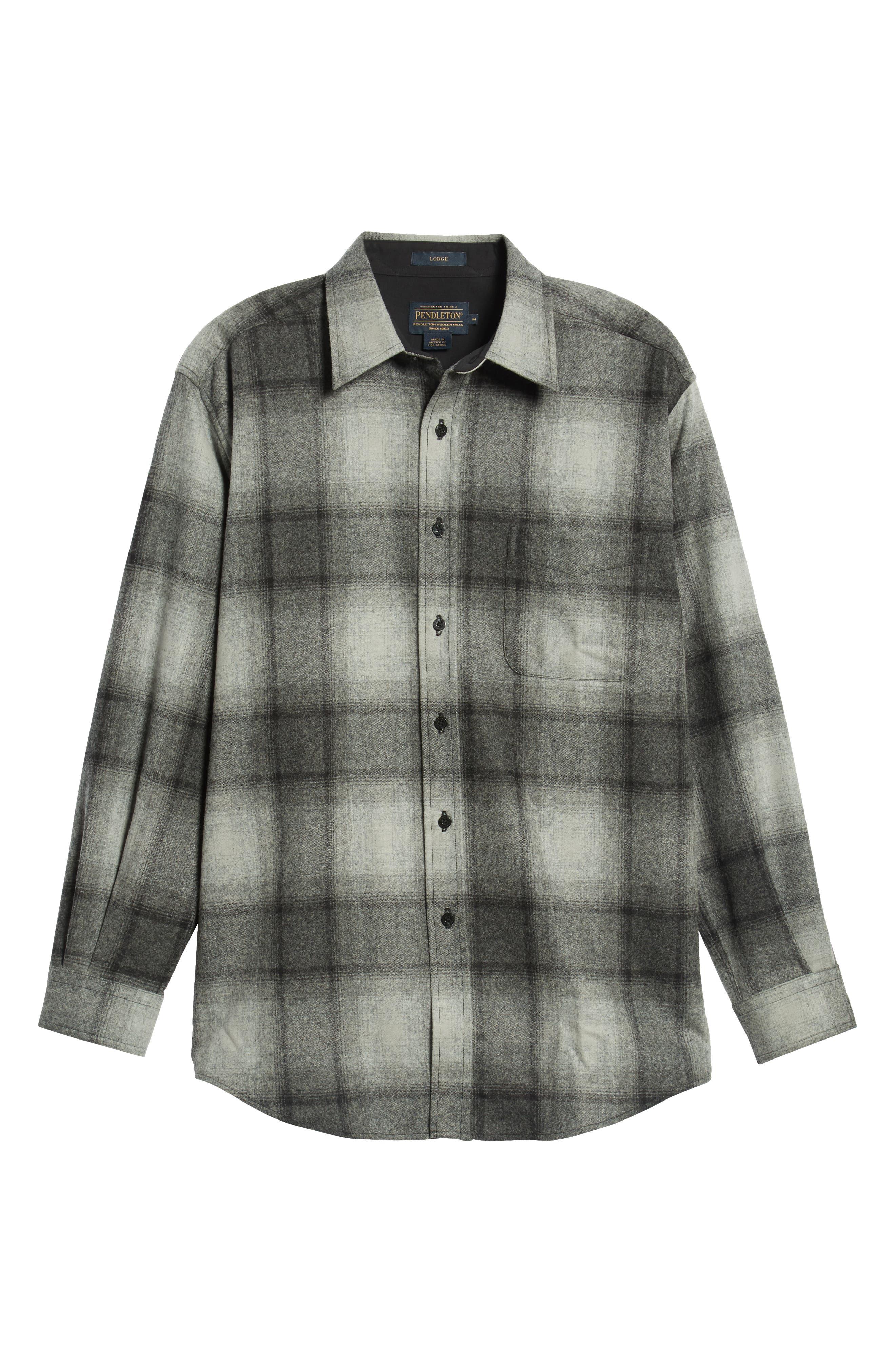 PENDLETON,                             Lodge Wool Flannel Shirt,                             Alternate thumbnail 5, color,                             020