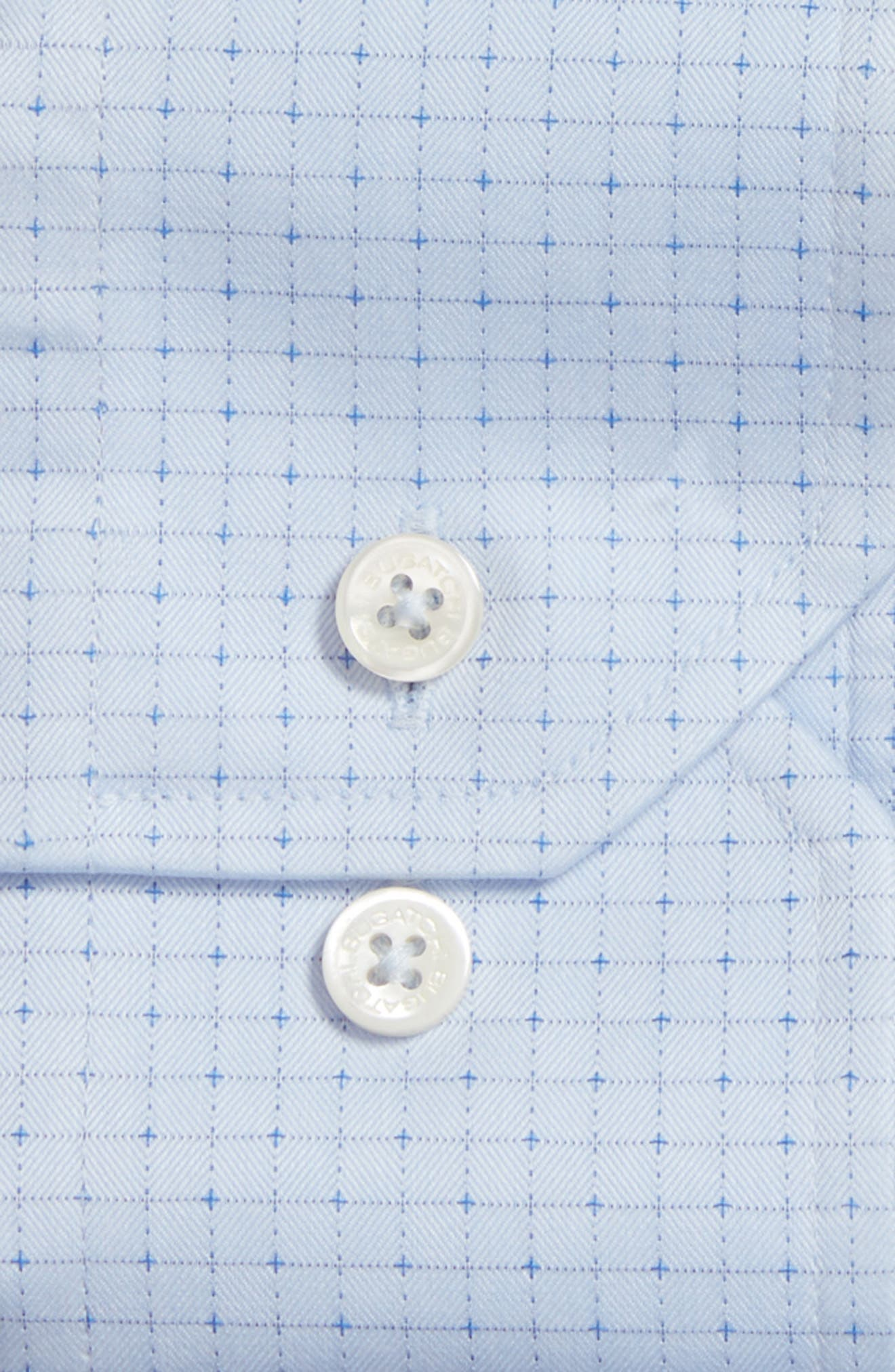 Shaped Fit Pattern Dress Shirt,                             Alternate thumbnail 2, color,