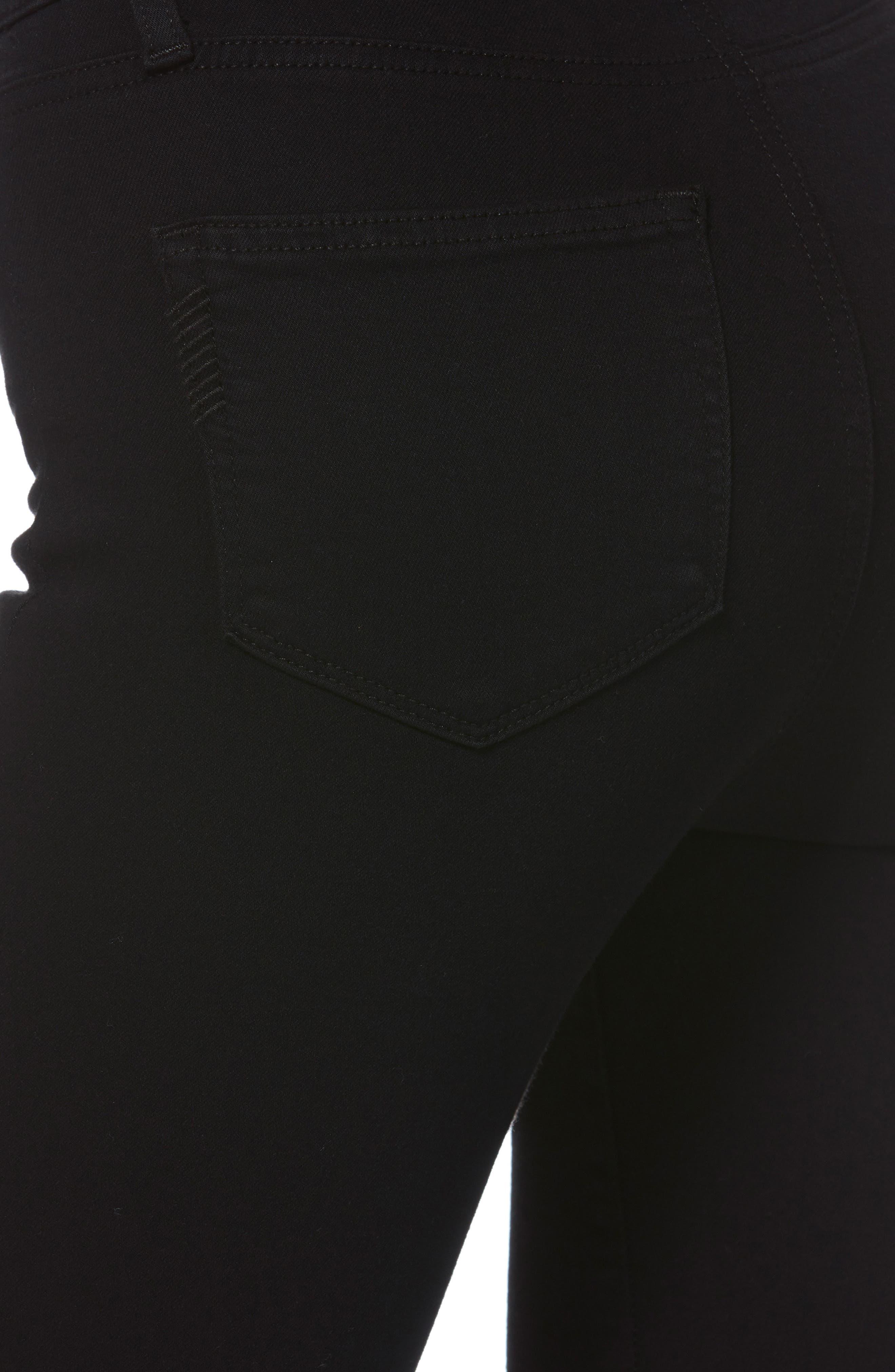 Transcend - Margot High Waist Crop Ultra Skinny Jeans,                             Alternate thumbnail 5, color,                             001
