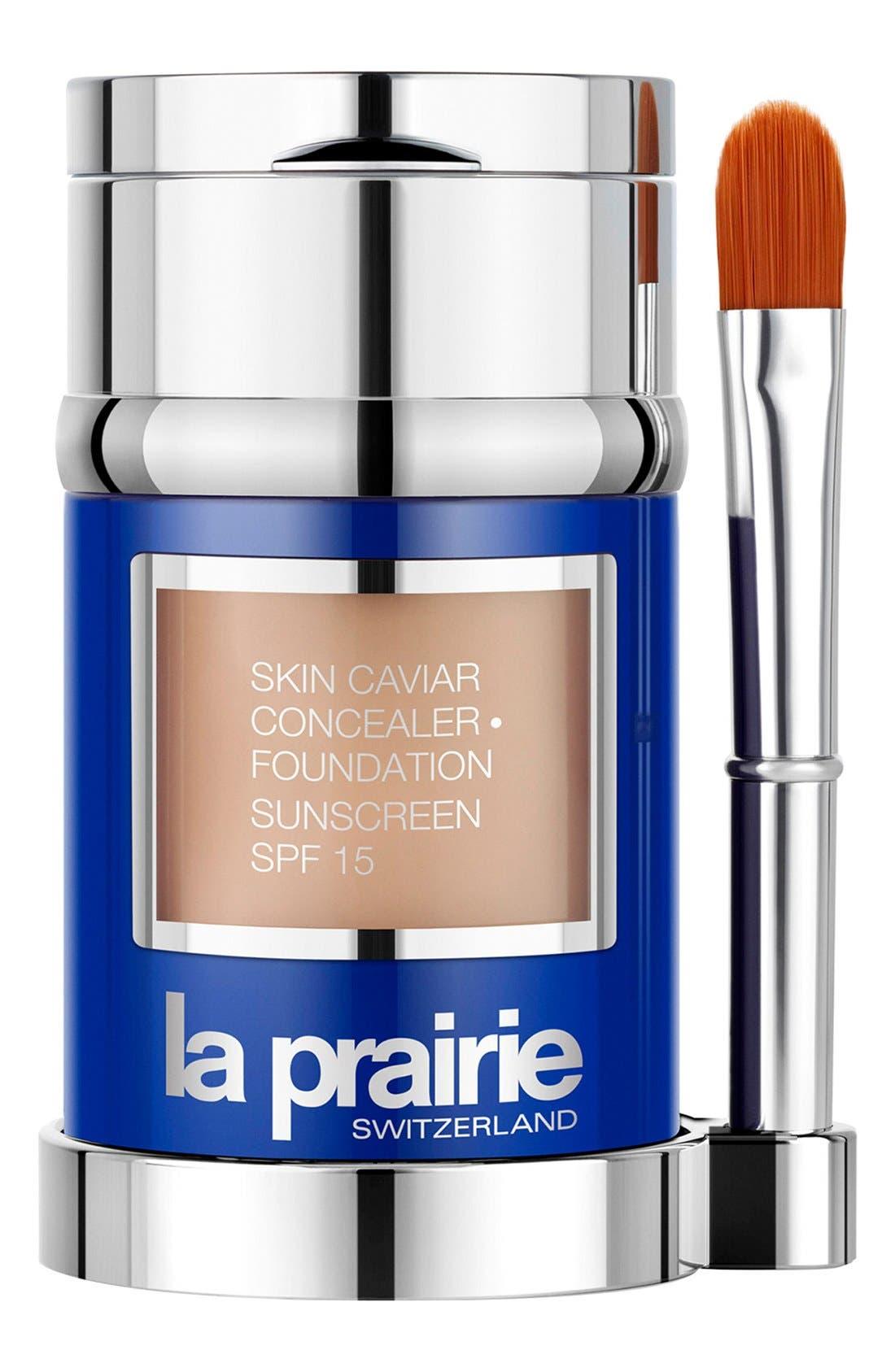 Skin Caviar Concealer + Foundation Sunscreen SPF 15,                             Main thumbnail 1, color,                             WARM BEIGE
