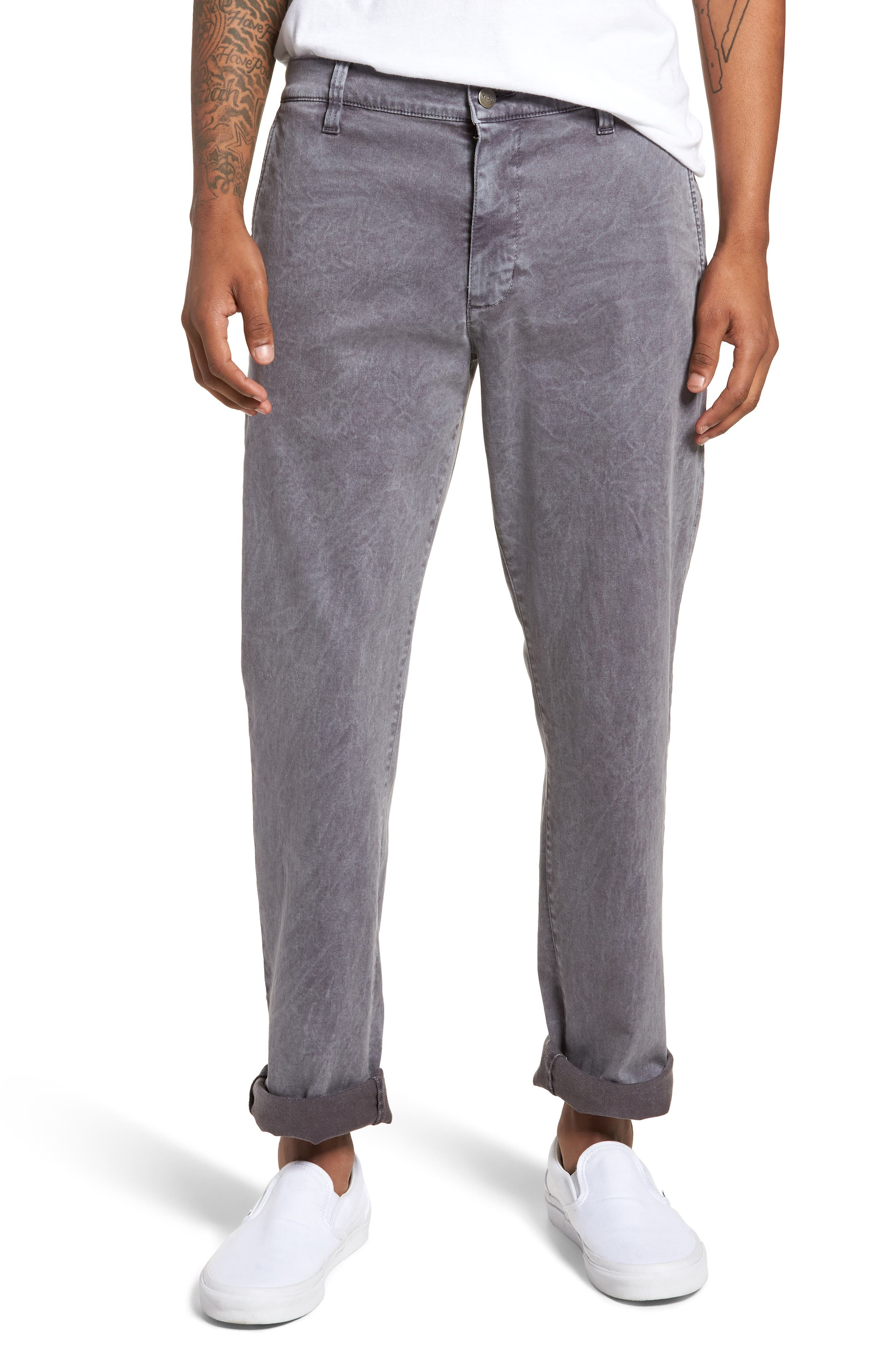 Rinsed Daggers Pants,                         Main,                         color, BLACK