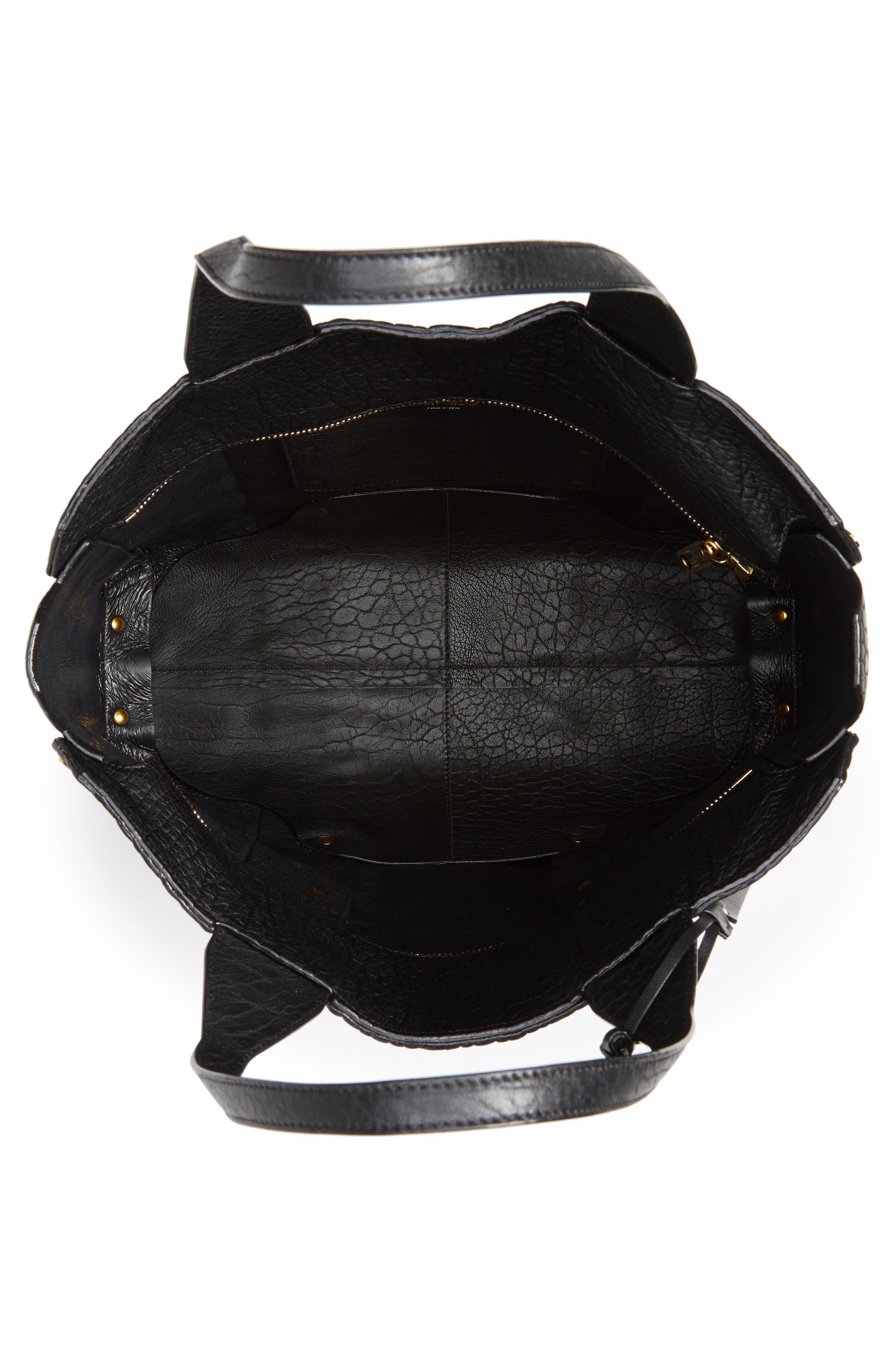 Lockett Leather Shopper,                             Alternate thumbnail 4, color,                             002