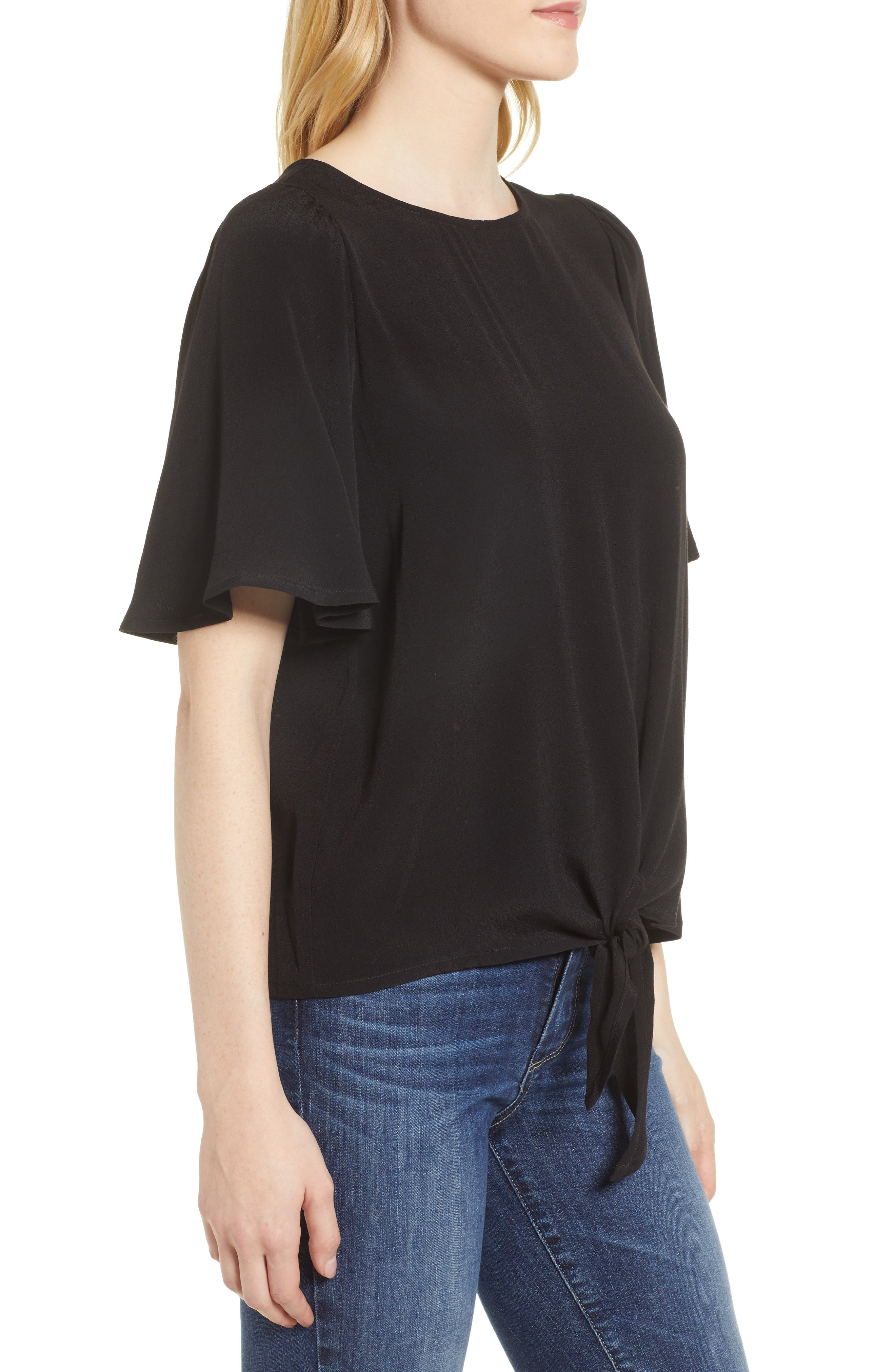 Ruffle Tie Front Top,                             Alternate thumbnail 10, color,