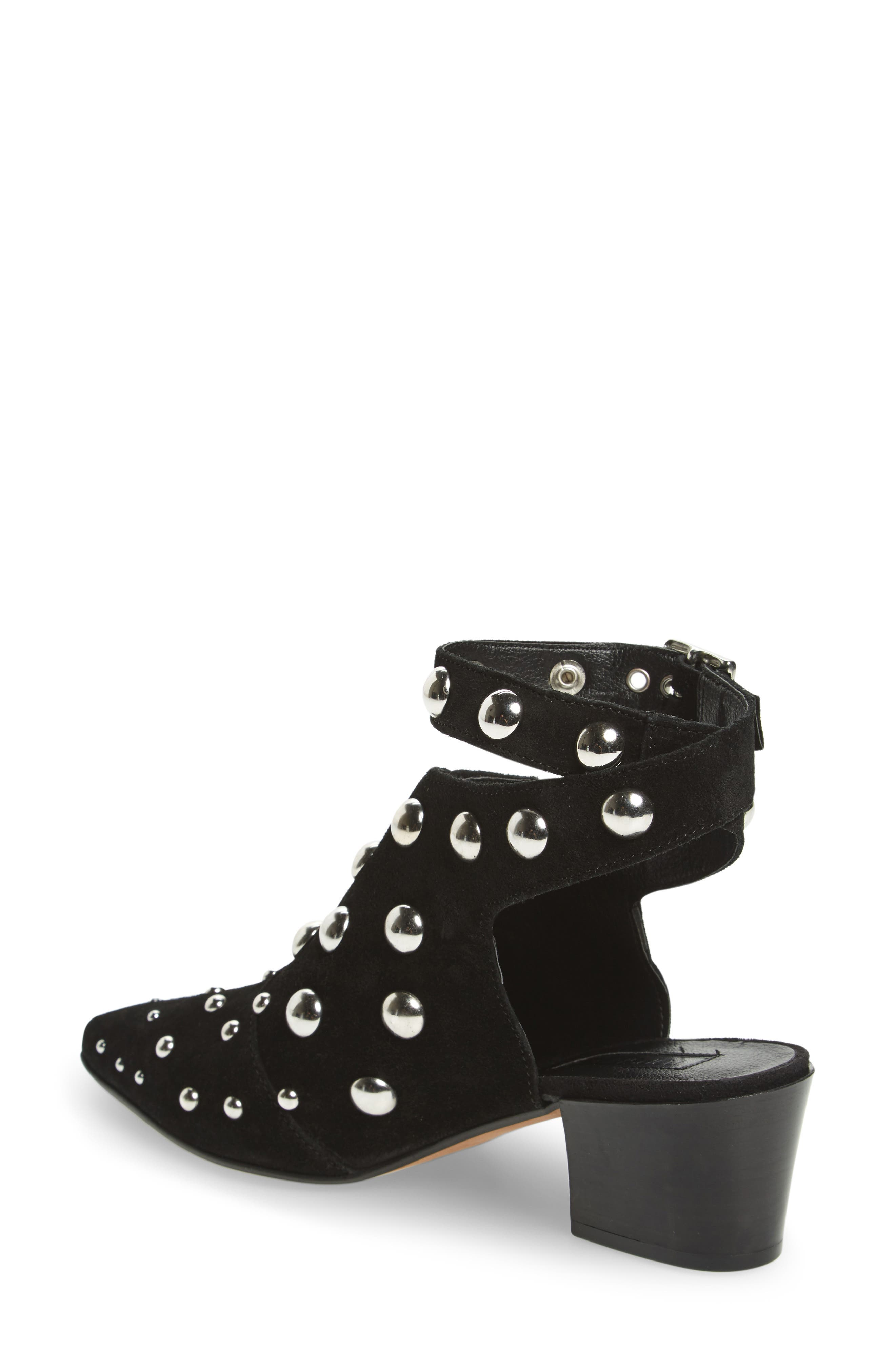 Madness Studded Wraparound Bootie,                             Alternate thumbnail 3, color,
