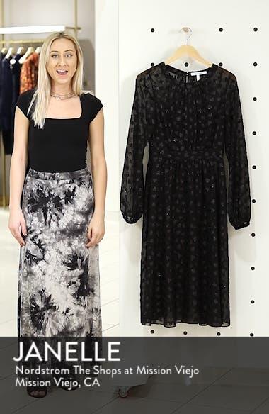 Tea Length Metallic Mesh Dress, sales video thumbnail