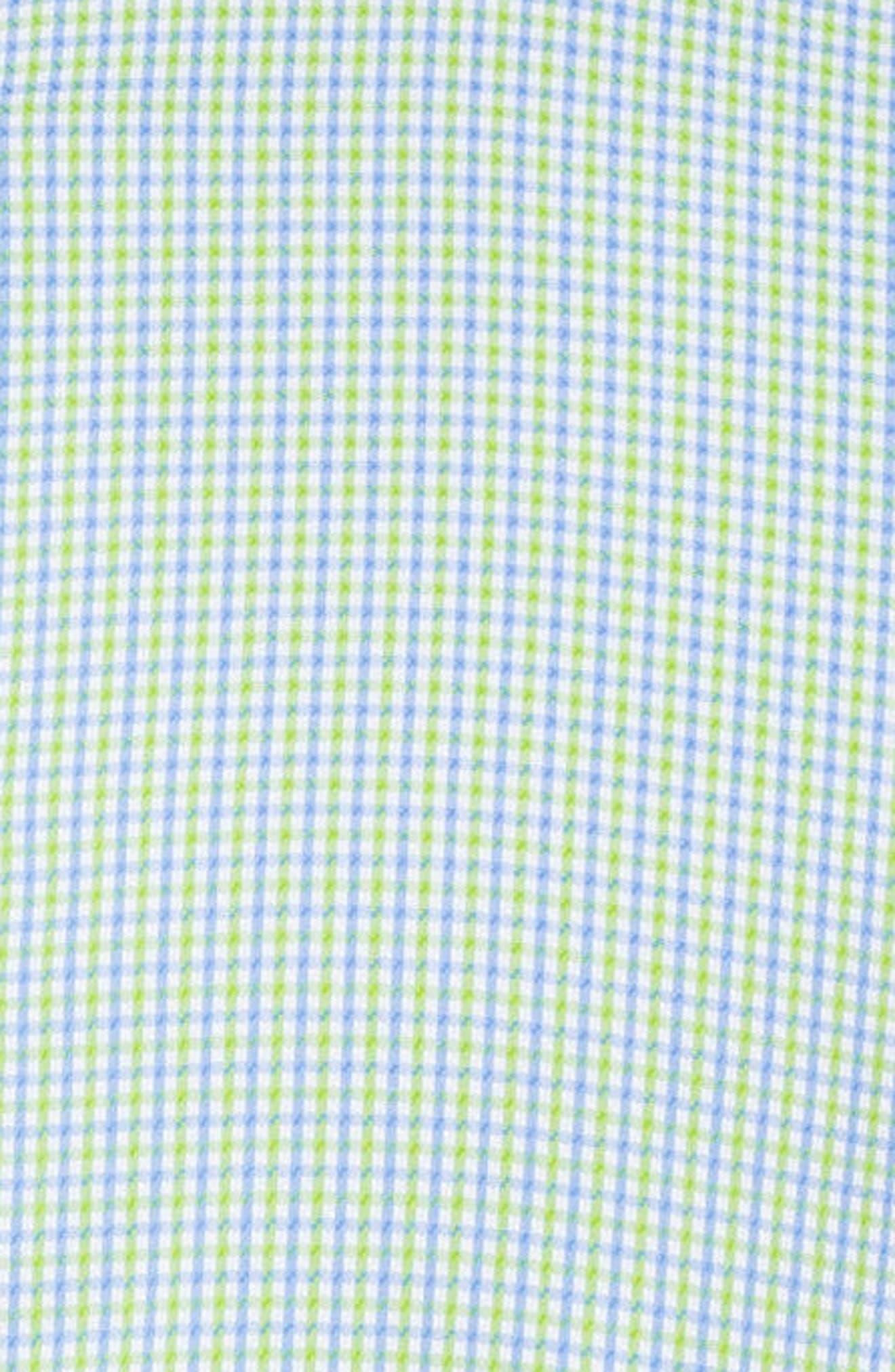 Classic Fit Plaid Sport Shirt,                             Alternate thumbnail 5, color,