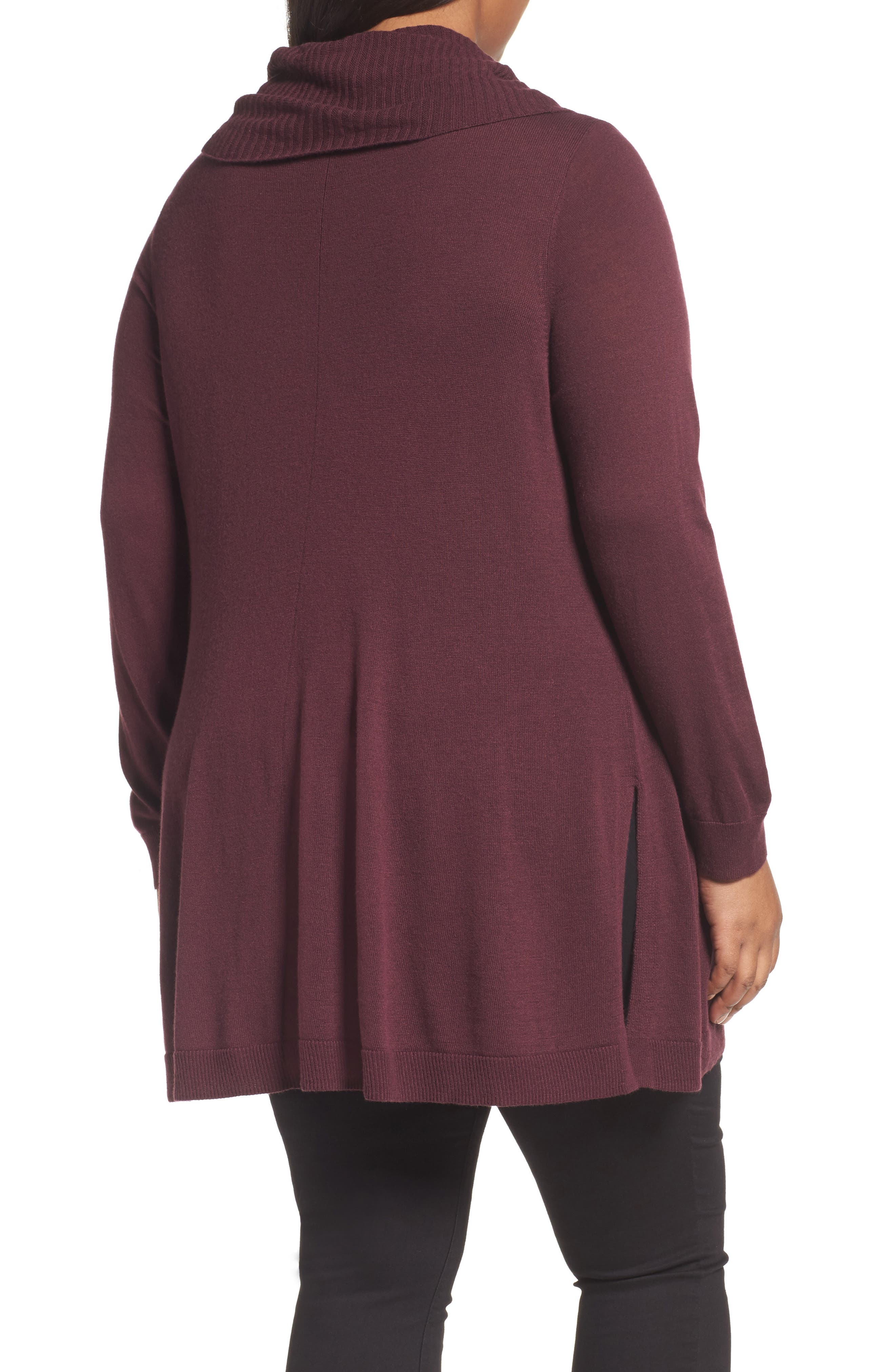 Cowl Neck Tunic,                             Alternate thumbnail 4, color,