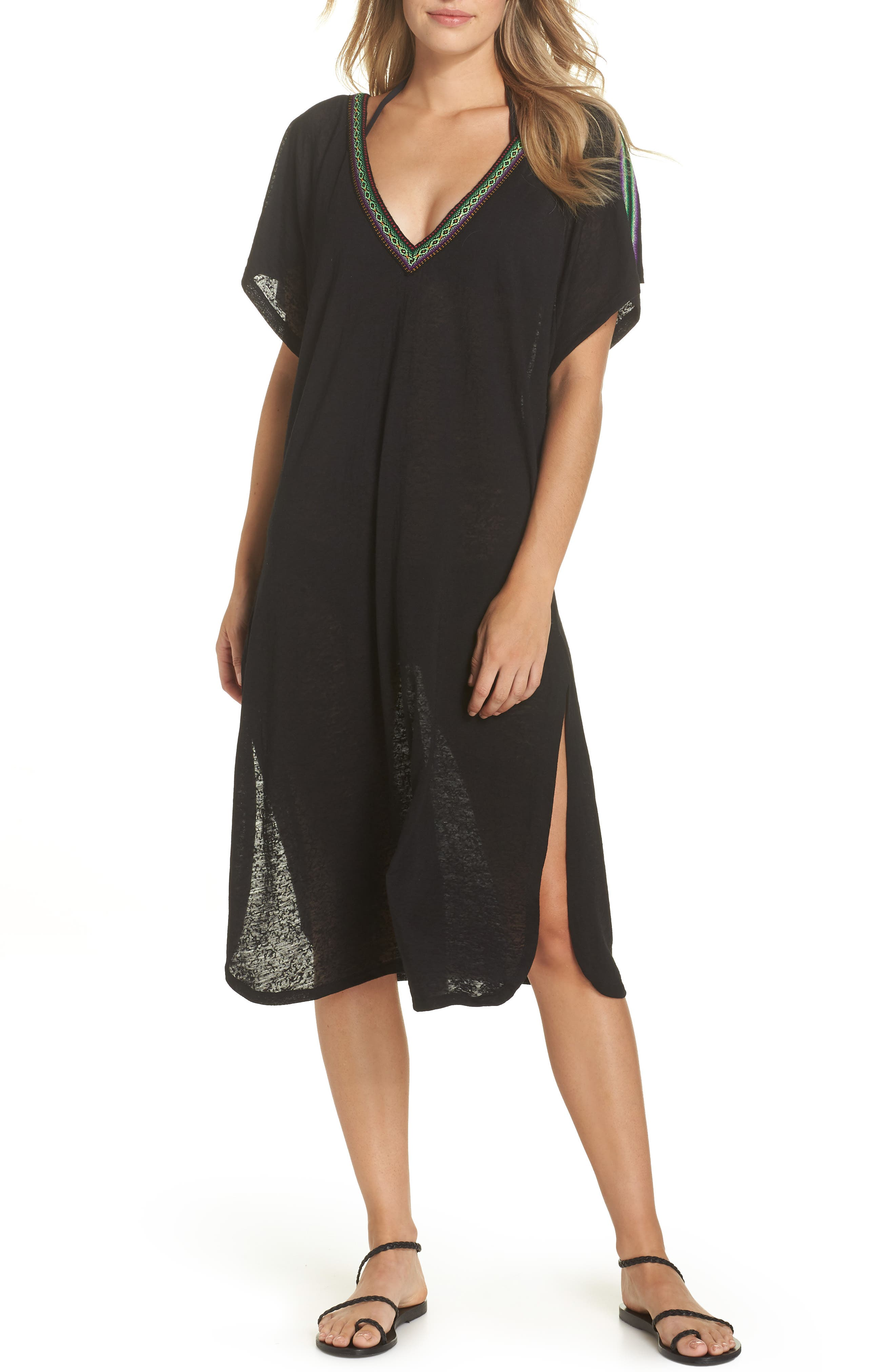 Cover-Up Midi Dress,                             Main thumbnail 1, color,                             001