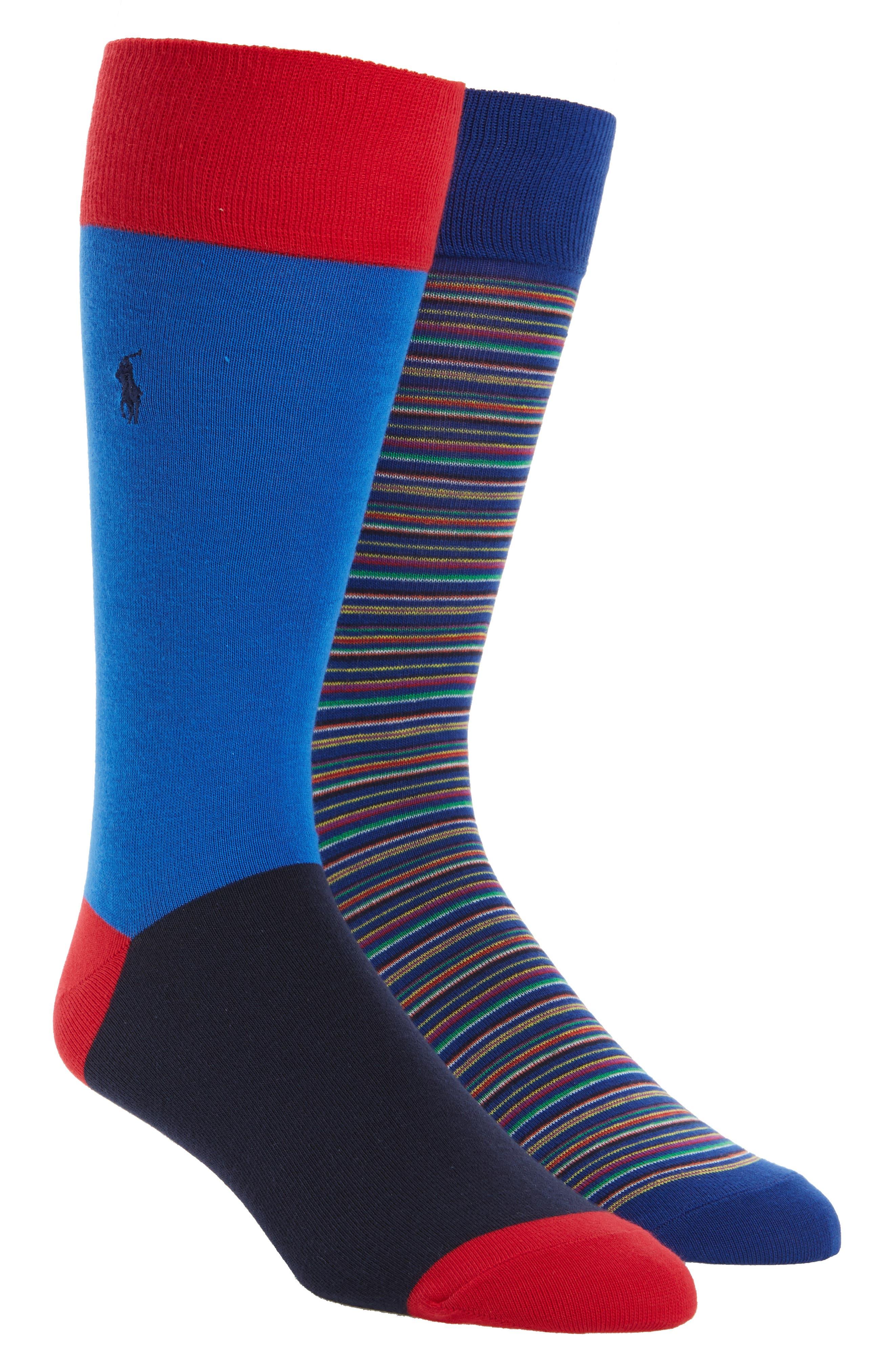 Stripe 2-Pack Socks,                             Alternate thumbnail 2, color,                             460