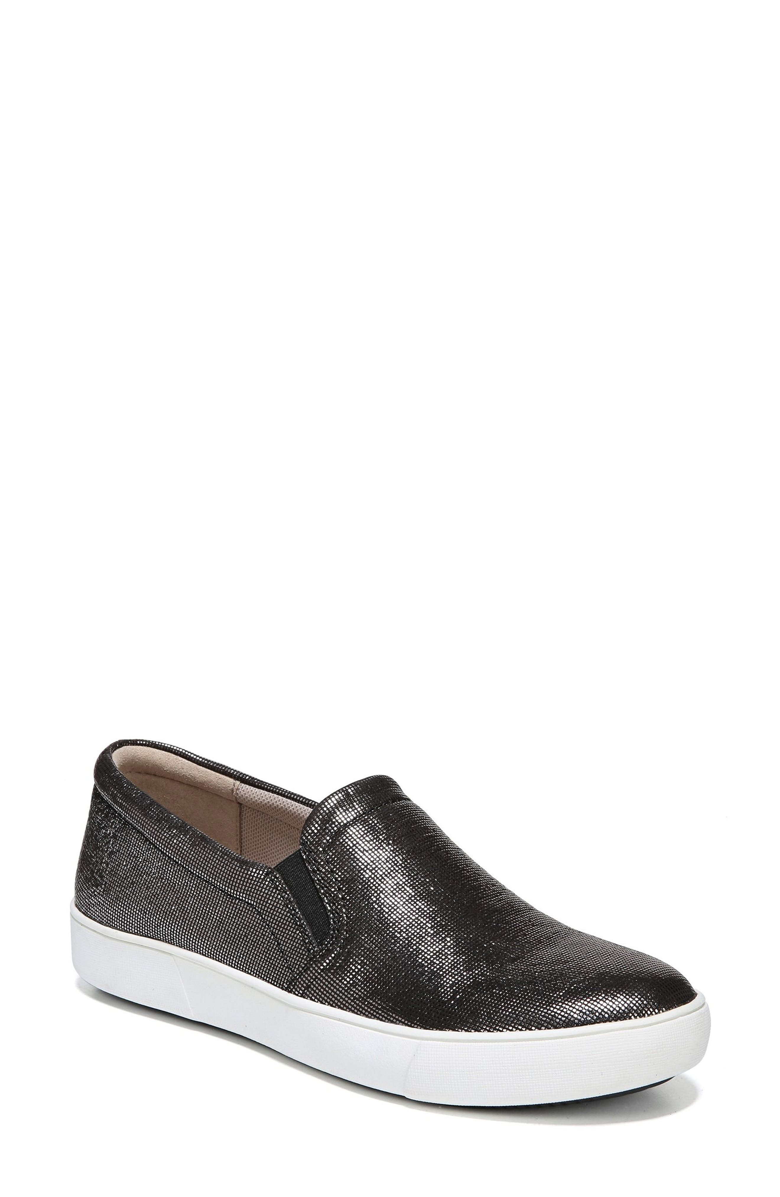 Marianne Slip-On Sneaker,                             Main thumbnail 1, color,                             DEEP SILVER PRINTED LEATHER