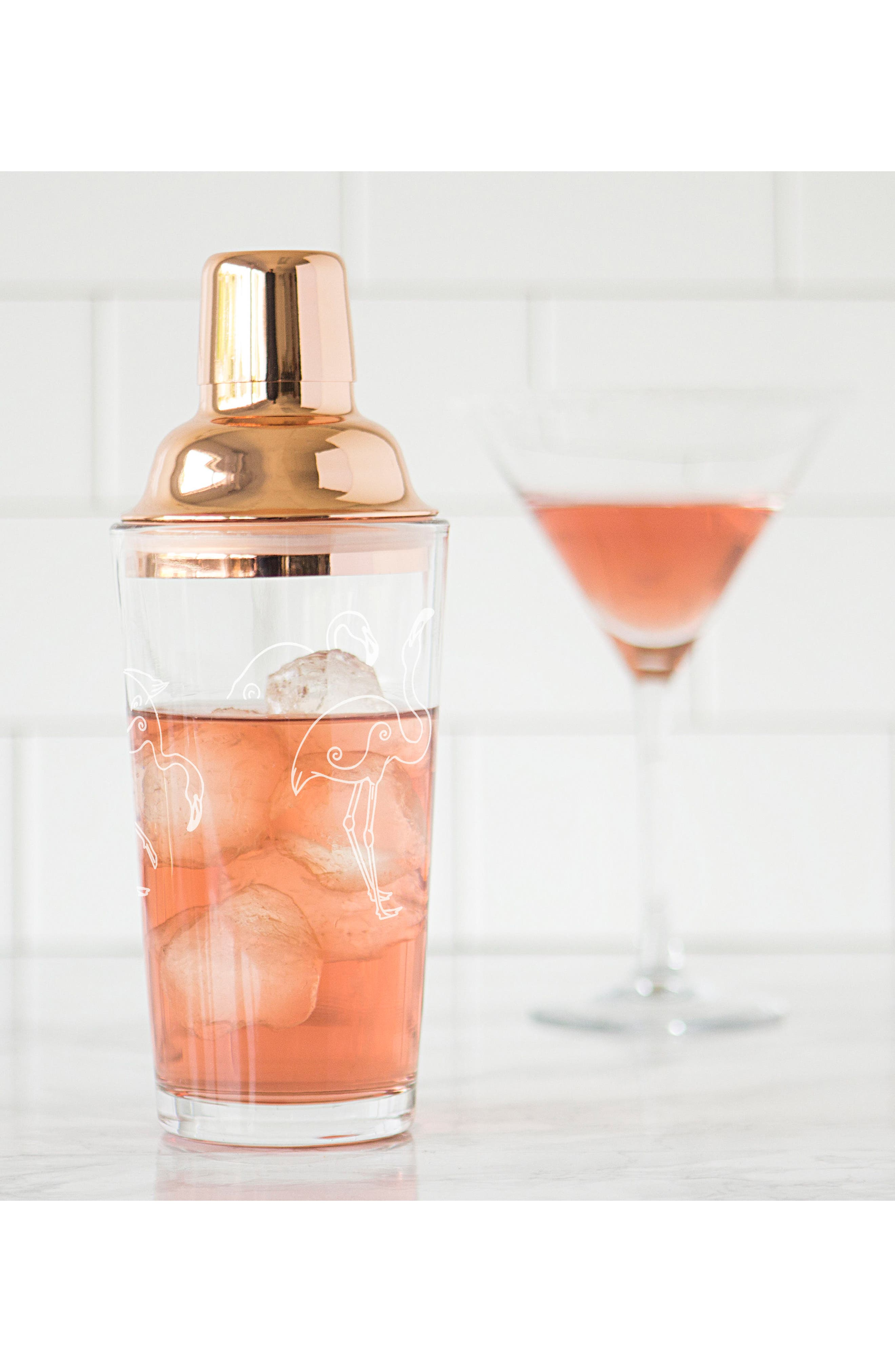 Flamingo Cocktail Shaker,                             Alternate thumbnail 5, color,