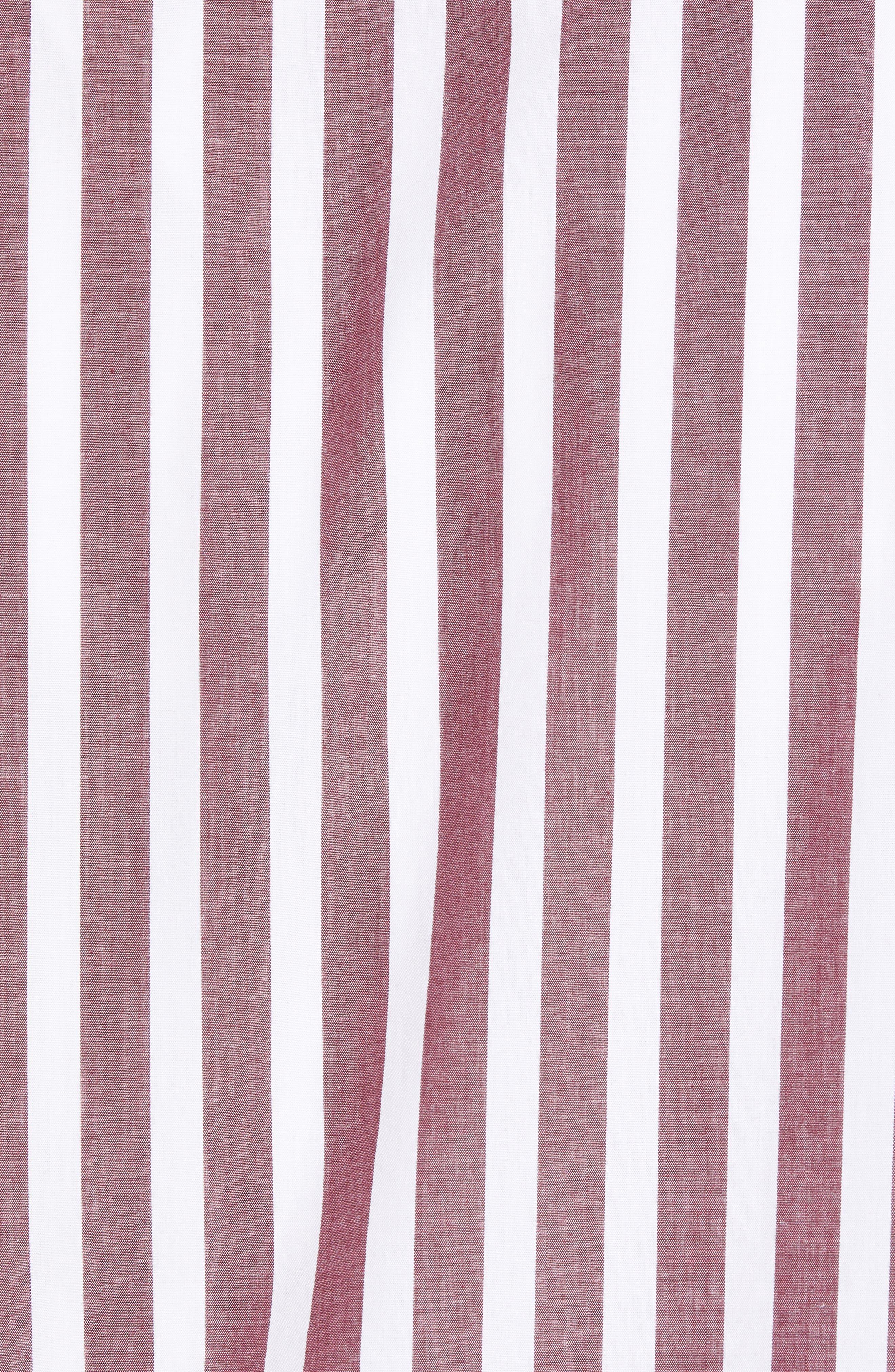Ivy Trim Fit Stripe Sport Shirt,                             Alternate thumbnail 5, color,                             938