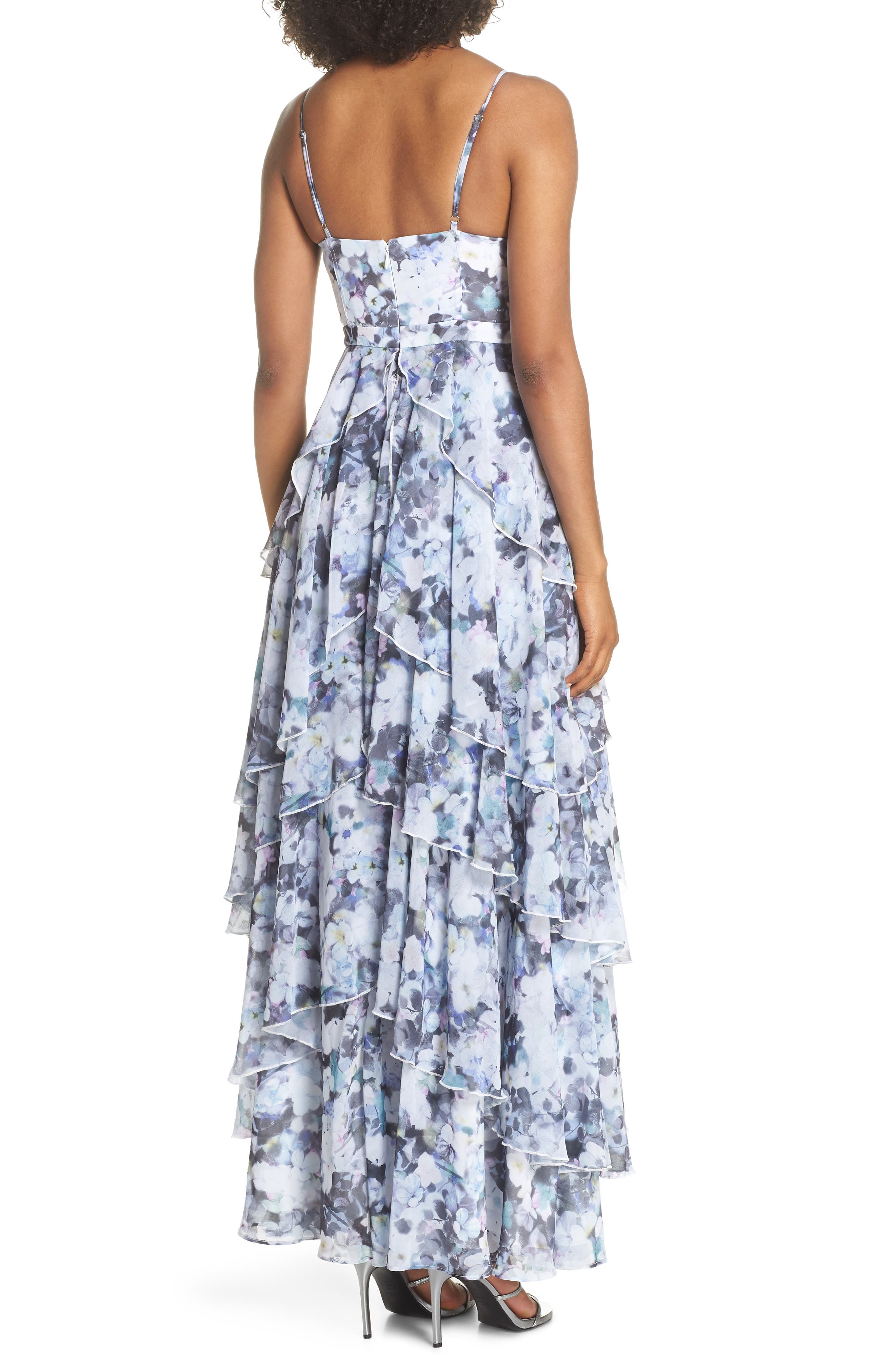 Catherine Floral Print Gown,                             Alternate thumbnail 2, color,                             450