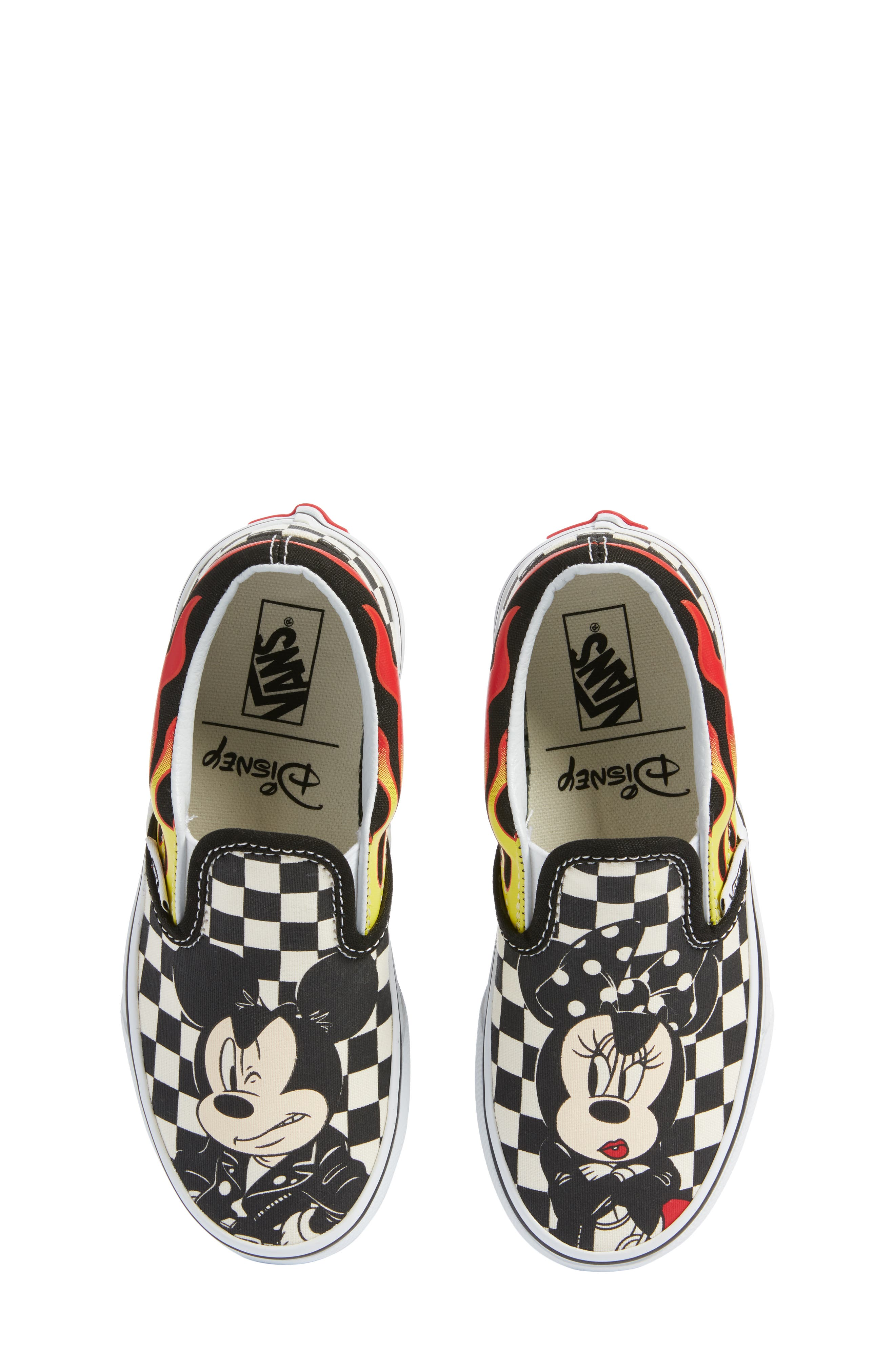x Disney Mickey Mouse Classic Slip-On Sneaker,                             Main thumbnail 1, color,                             DISNEY MICKEY MINNIE