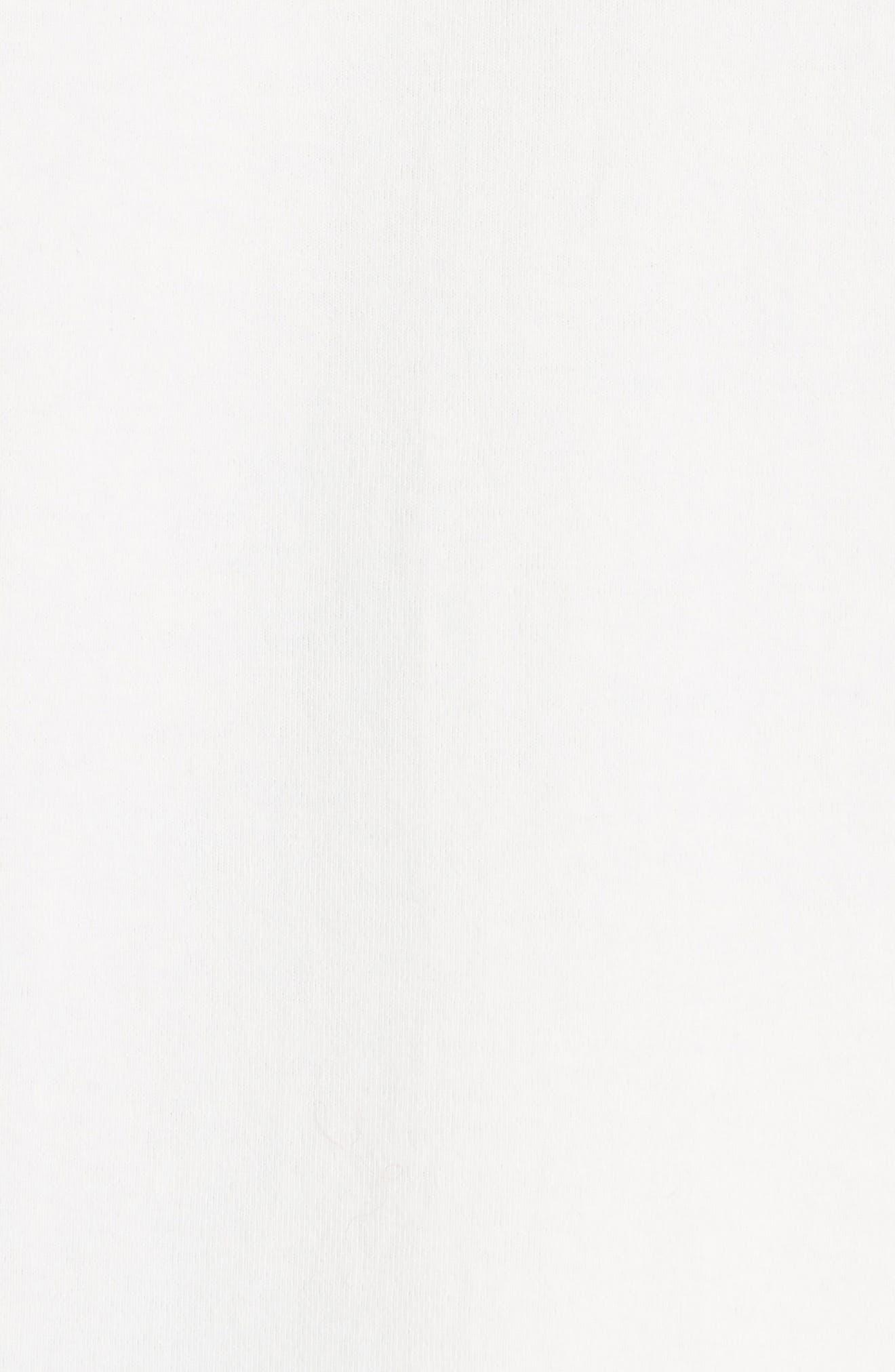 Long Sleeve Varsity T-Shirt,                             Alternate thumbnail 5, color,                             WHITE