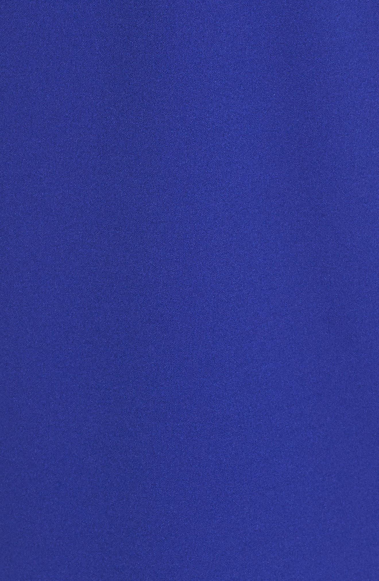 VINCE CAMUTO,                             Scuba Crepe Sheath Dress,                             Alternate thumbnail 6, color,                             COBALT