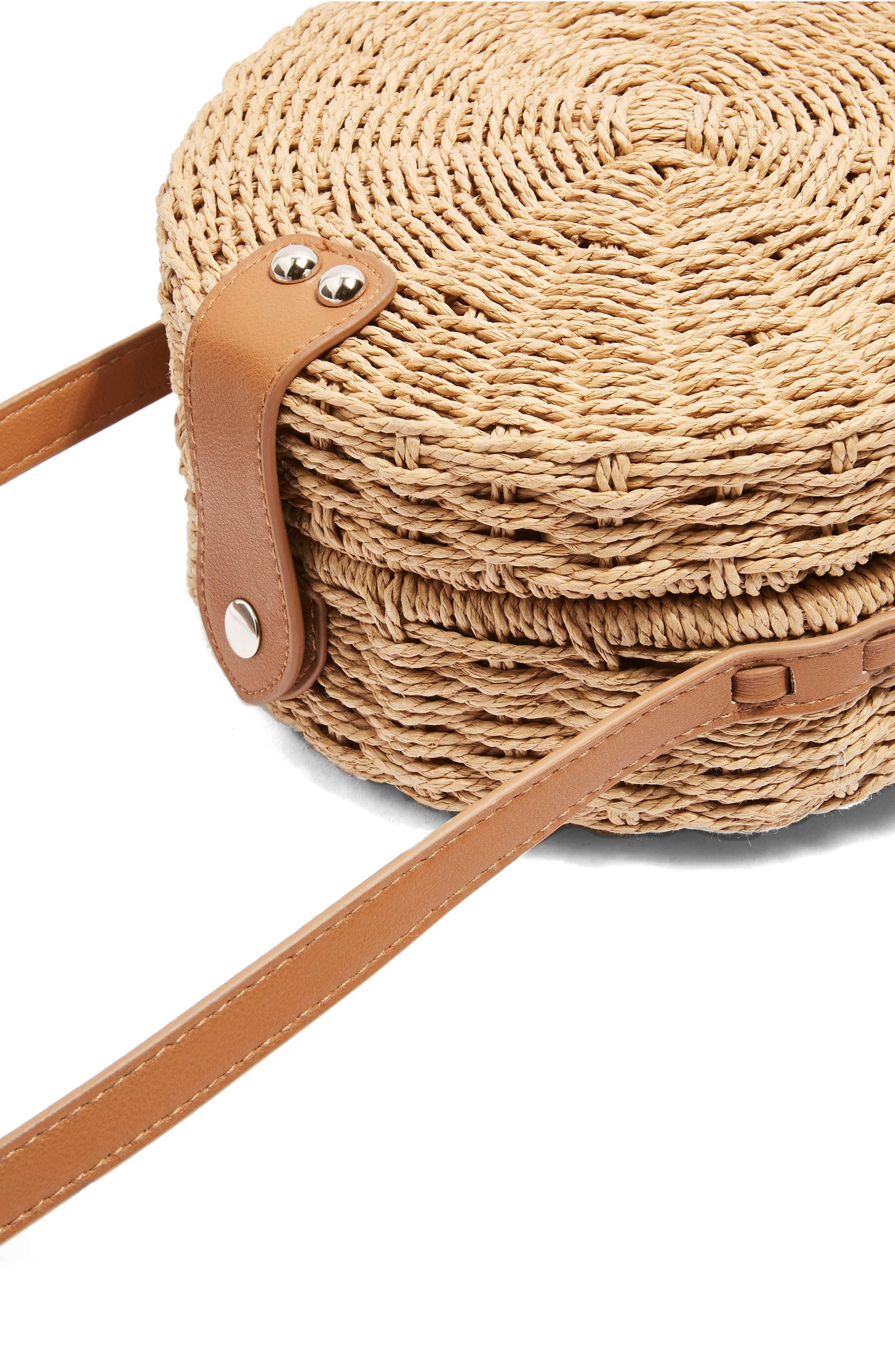 Barbar Straw Crossbody Bag,                             Alternate thumbnail 6, color,
