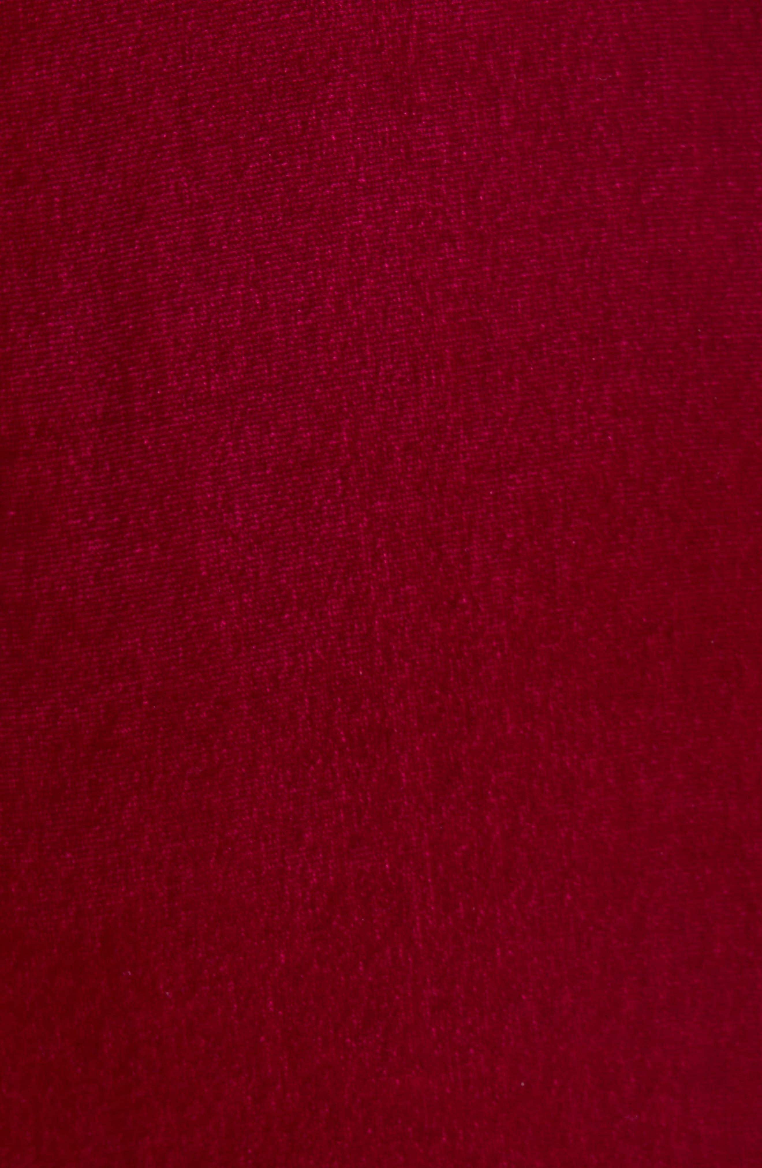Ruched Velvet Dress,                             Alternate thumbnail 6, color,                             CRANBERRY
