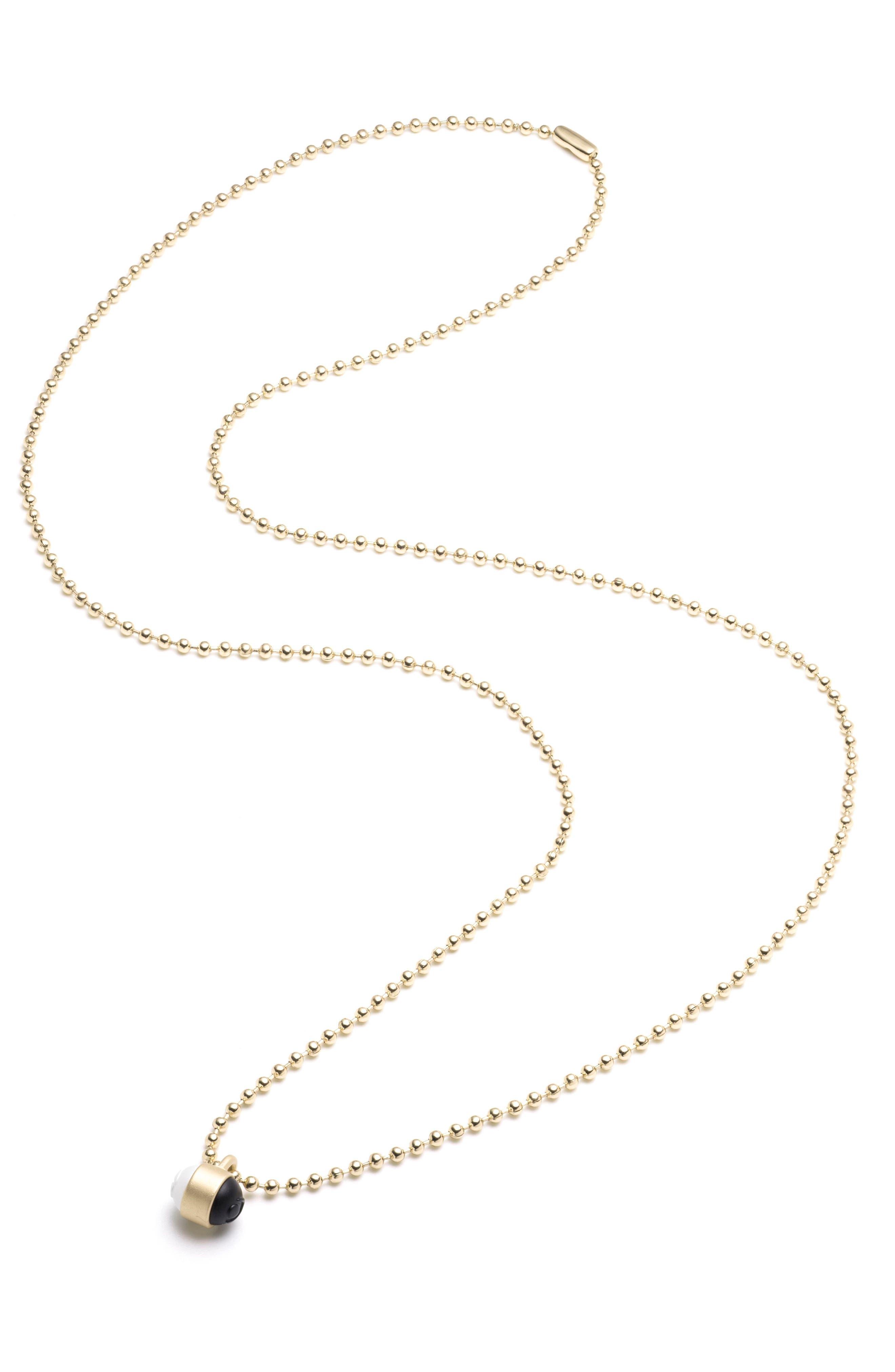 Pendant Ball Chain Necklace,                             Alternate thumbnail 9, color,