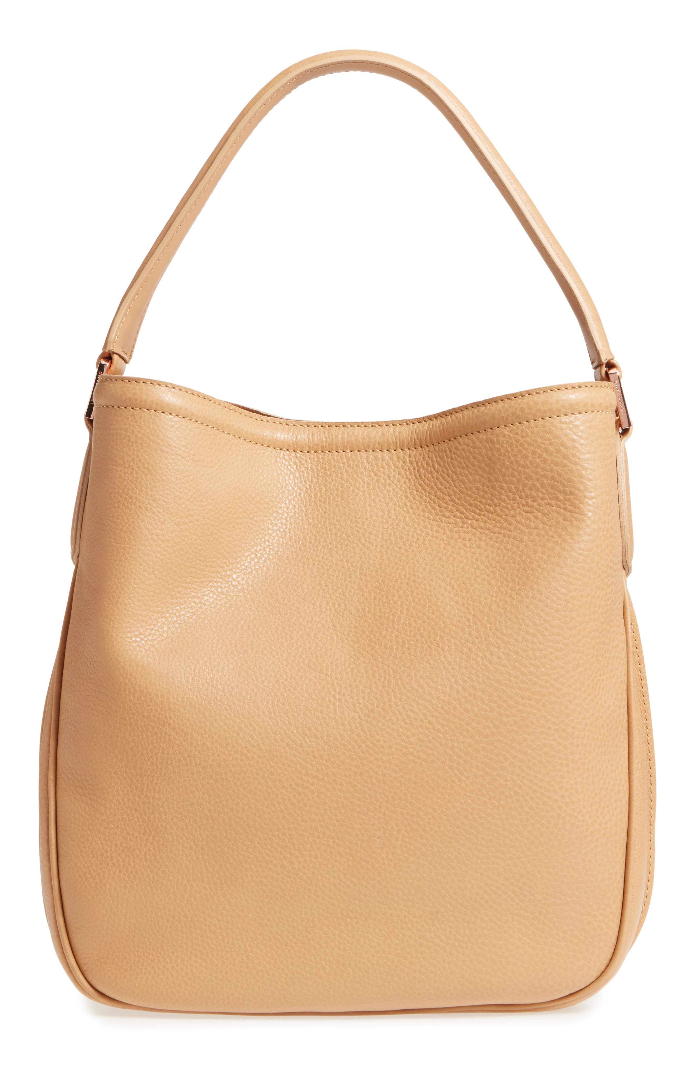 'Mystery' Leather Hobo,                             Alternate thumbnail 3, color,                             266