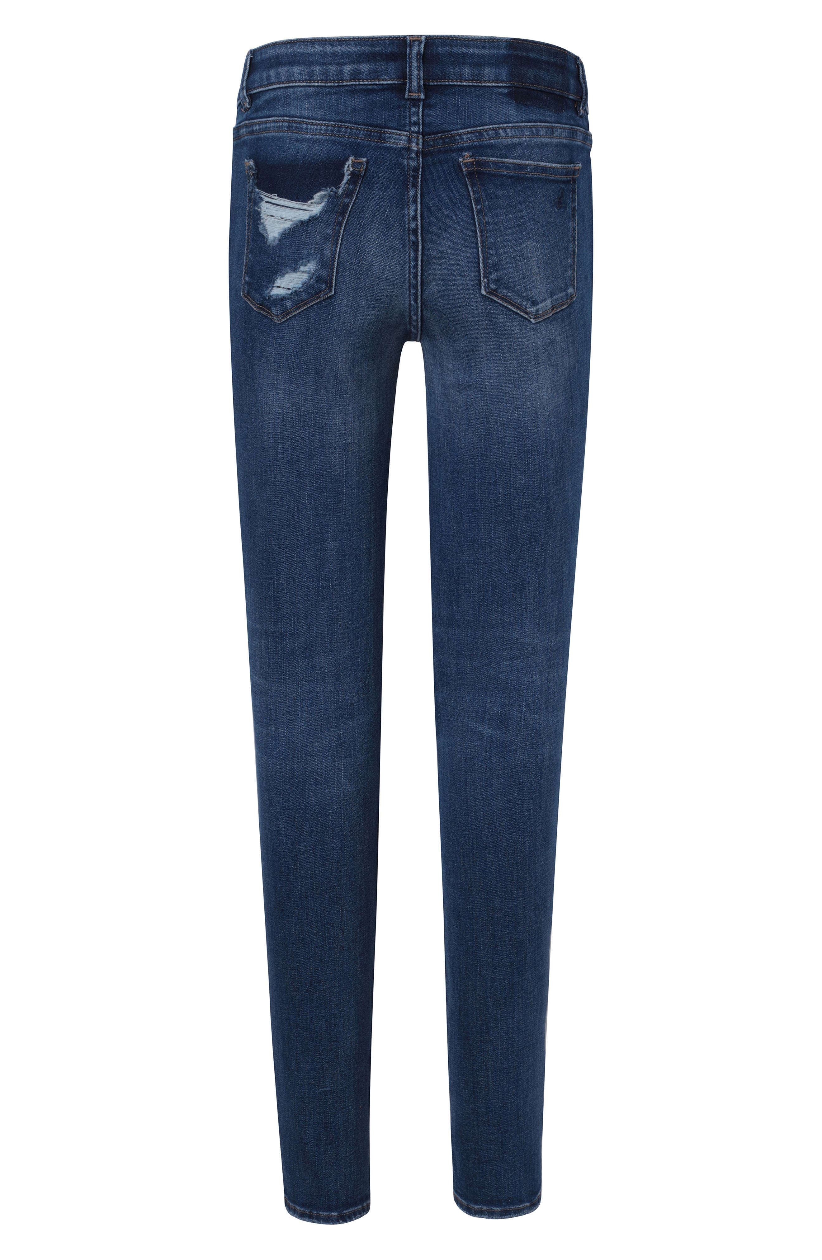 Distressed Skinny Jeans,                             Alternate thumbnail 2, color,                             ROYCE
