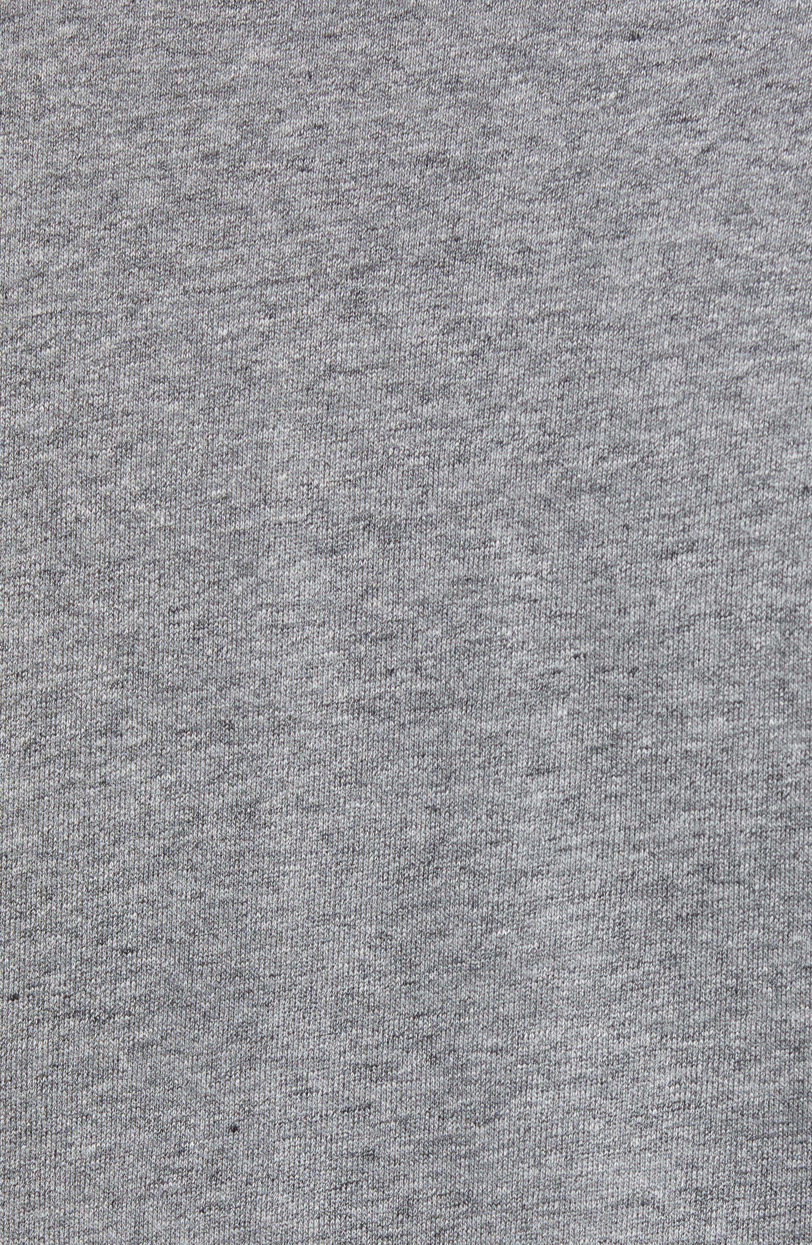Carney Quarter Zip Sweatshirt,                             Alternate thumbnail 5, color,                             MID GREY
