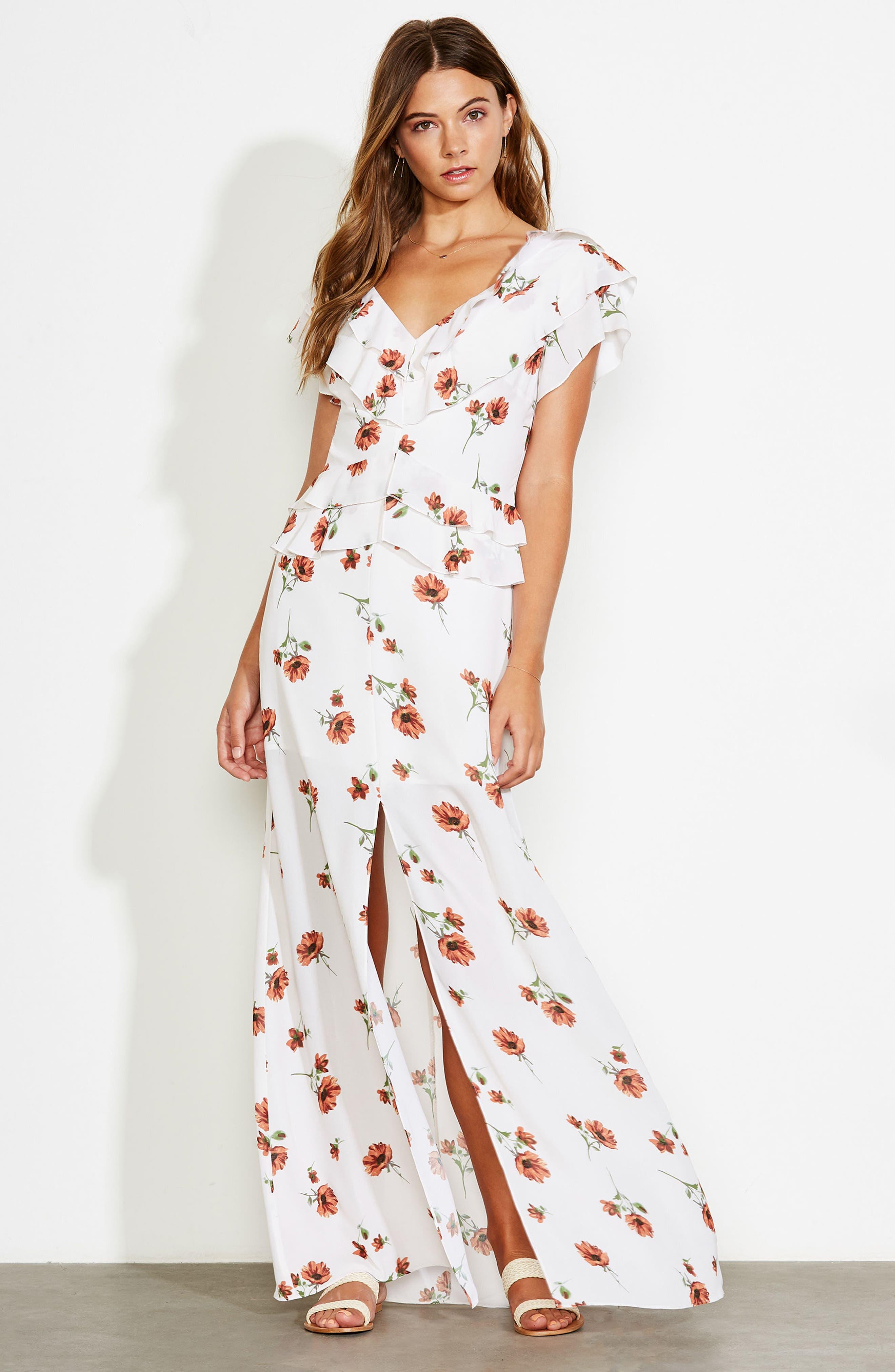Darling Nikki Floral Maxi Dress,                             Alternate thumbnail 8, color,                             100