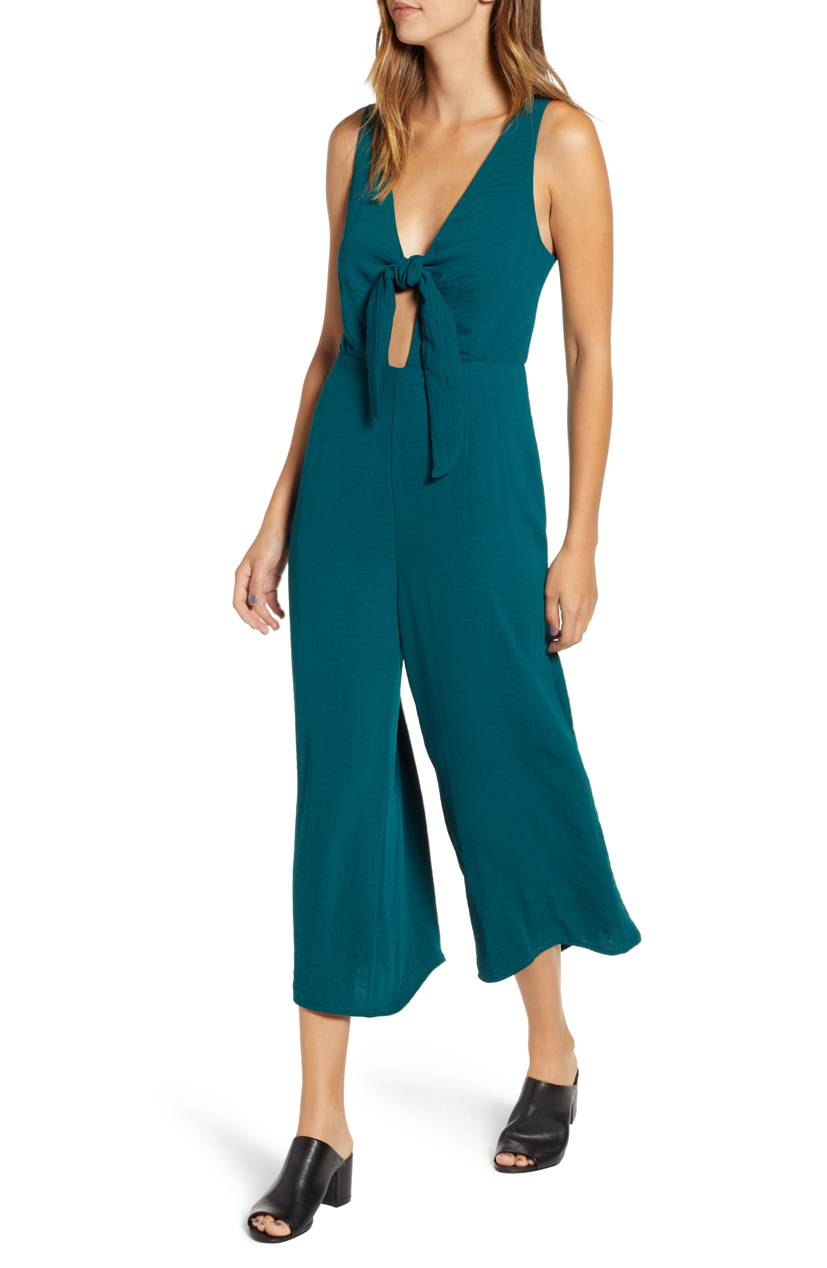 SOMEDAYS LOVIN For The Night Crop Jumpsuit in Emerald