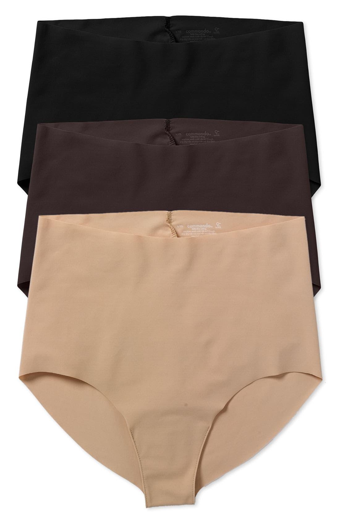 High Rise Panties,                         Main,                         color, 001