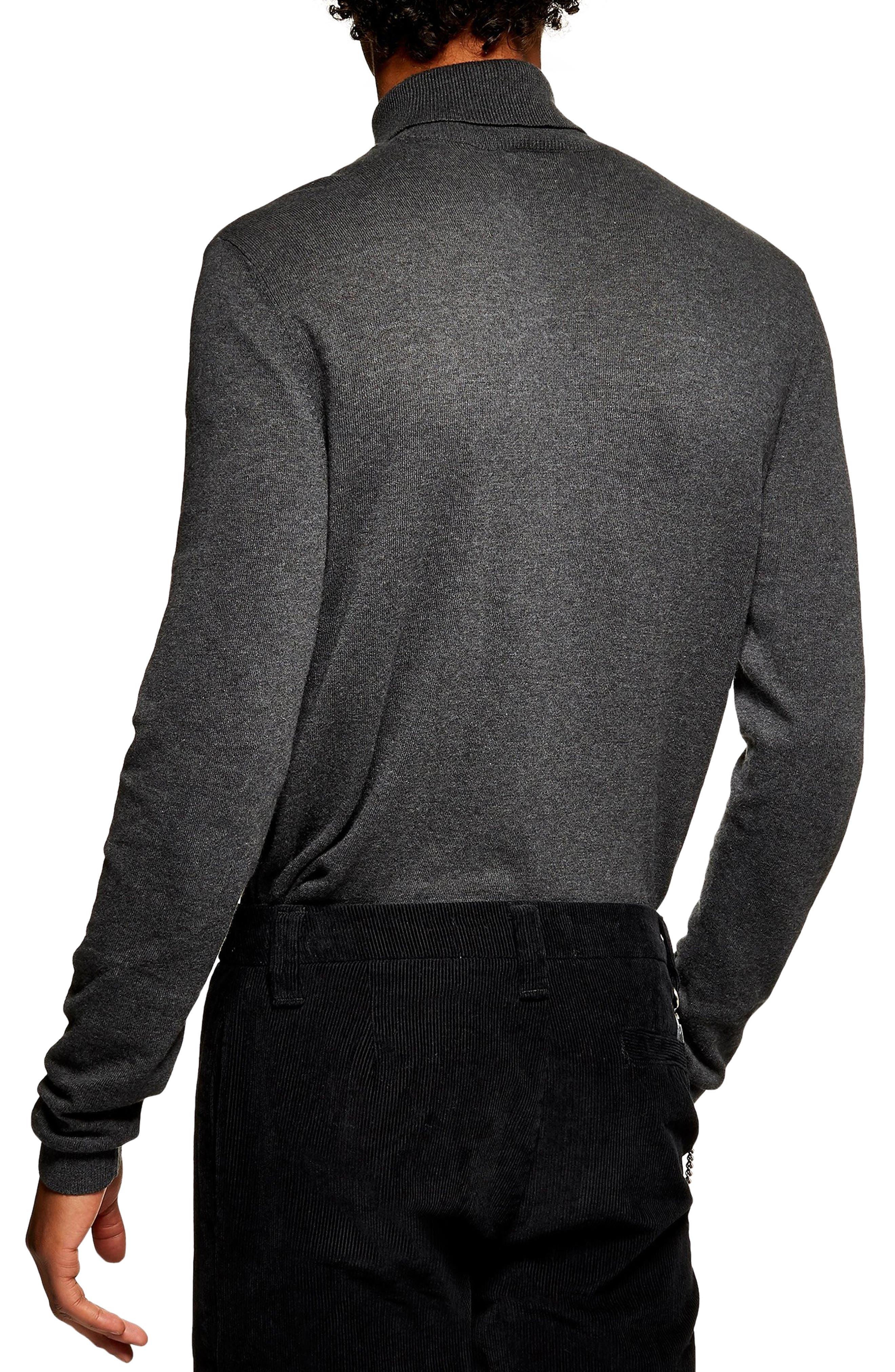 Classic Fit Turtleneck Sweater,                             Alternate thumbnail 2, color,                             DARK GREY