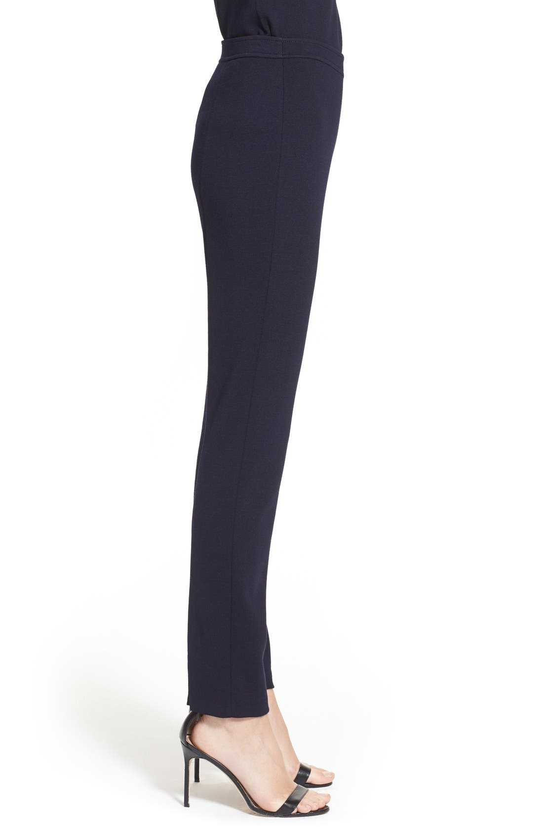 'Alexa' Stretch Milano Knit Ankle Pants,                             Alternate thumbnail 8, color,                             NAVY