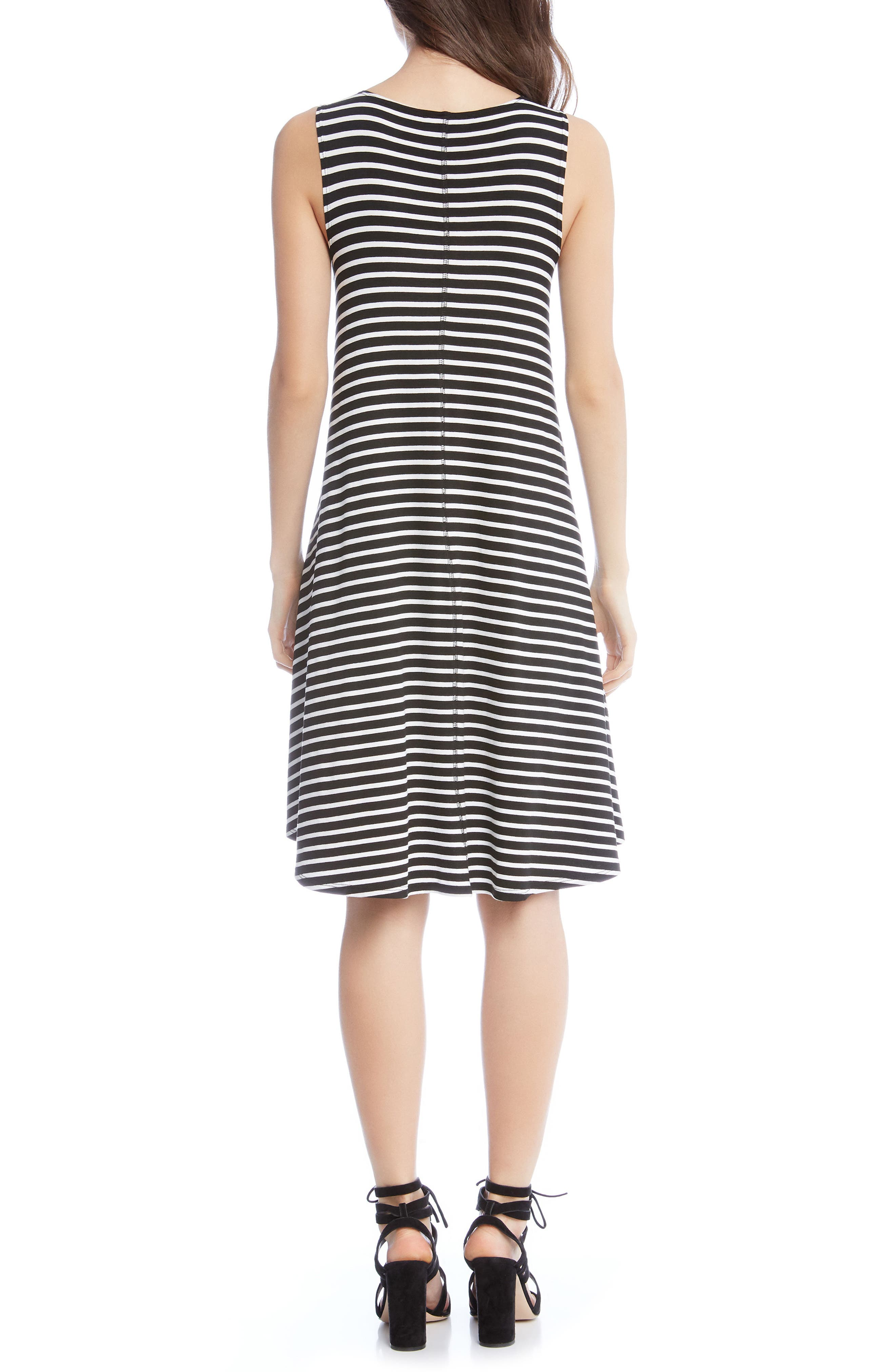 KAREN KANE,                             Stripe A-Line Dress,                             Alternate thumbnail 2, color,                             009