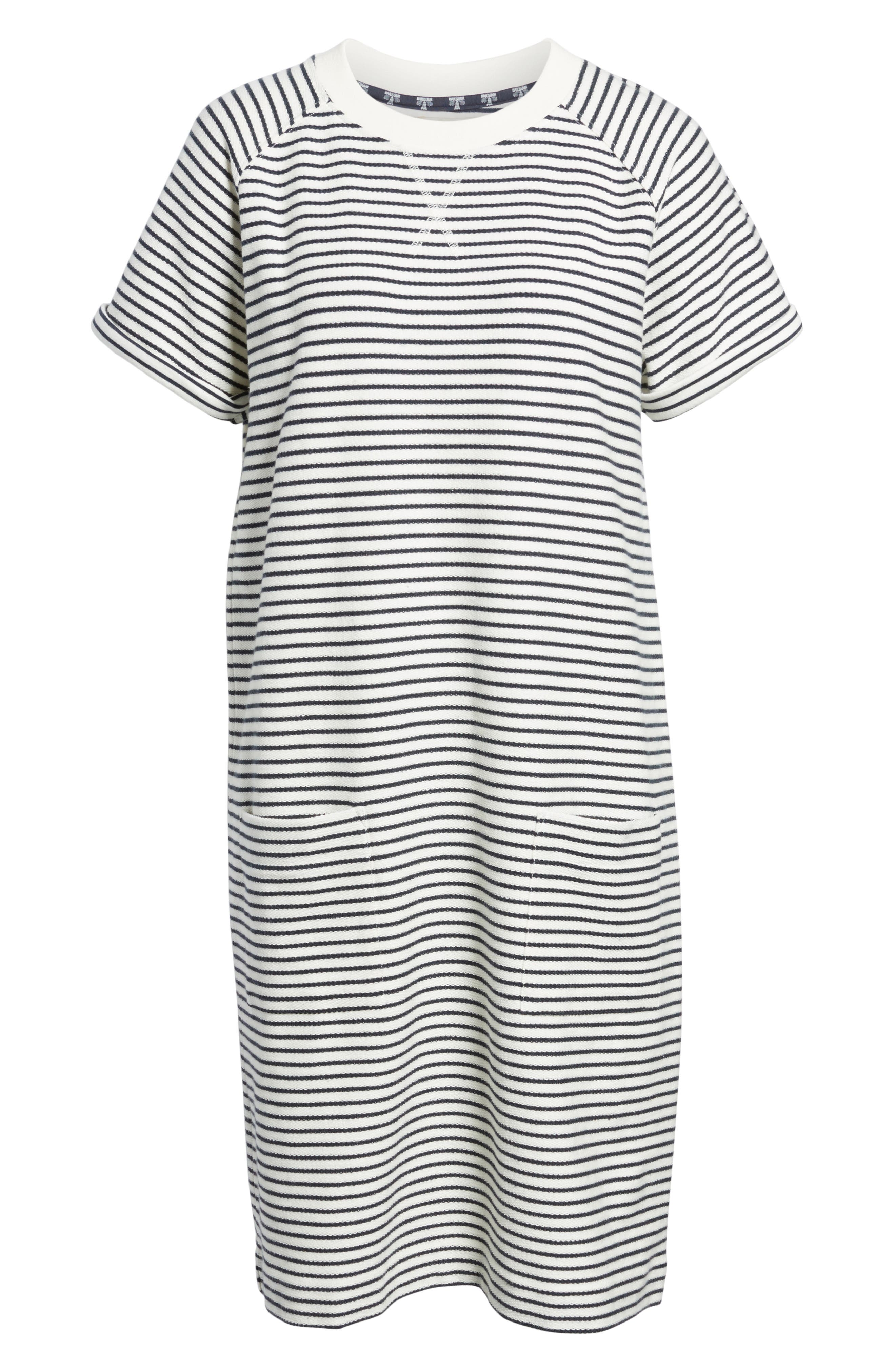 Monreith Stripe Shift Dress,                             Alternate thumbnail 6, color,                             400