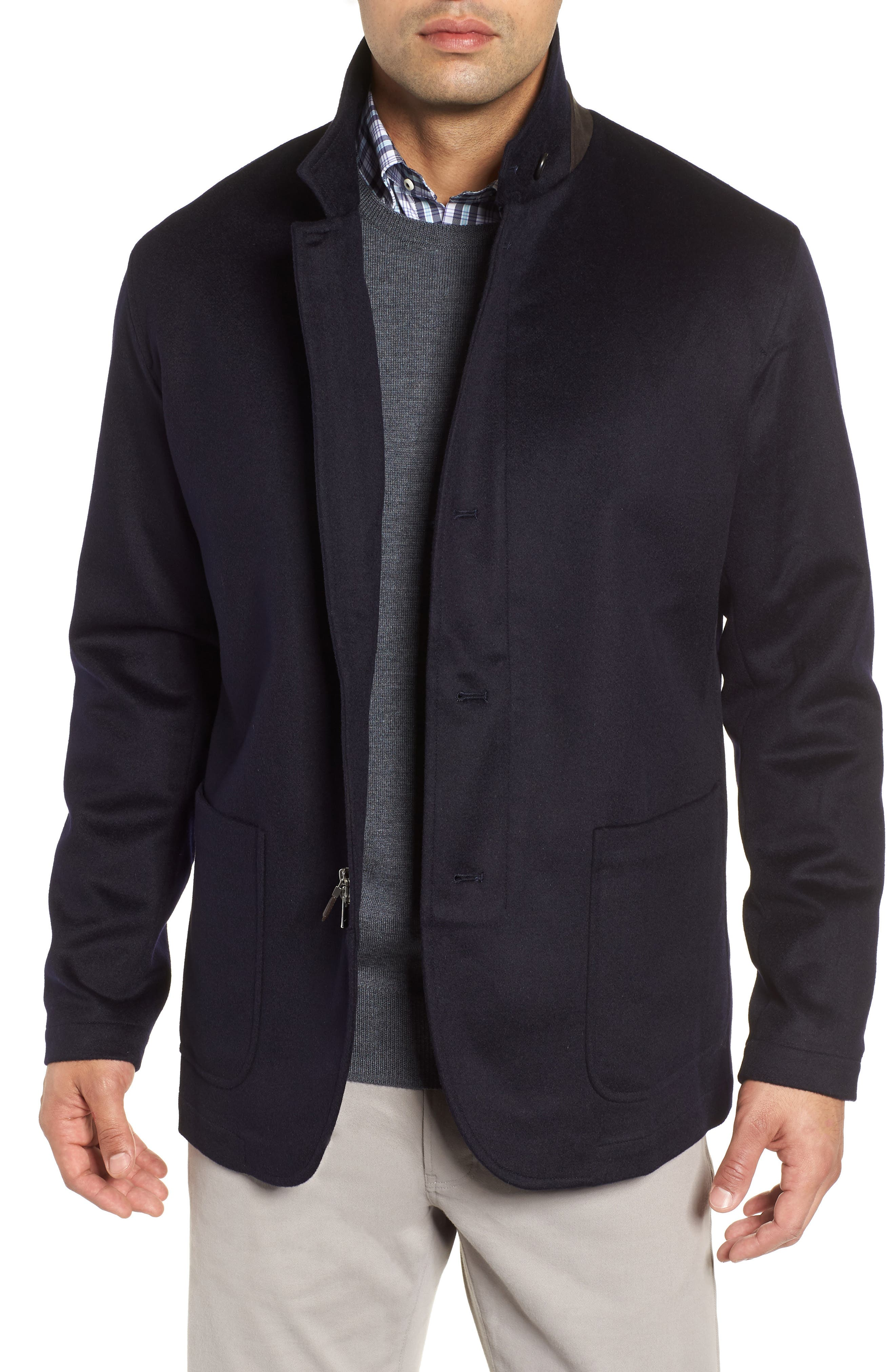 Wade Crown Fleece Jacket,                             Main thumbnail 1, color,                             ARCTIC NIGHT