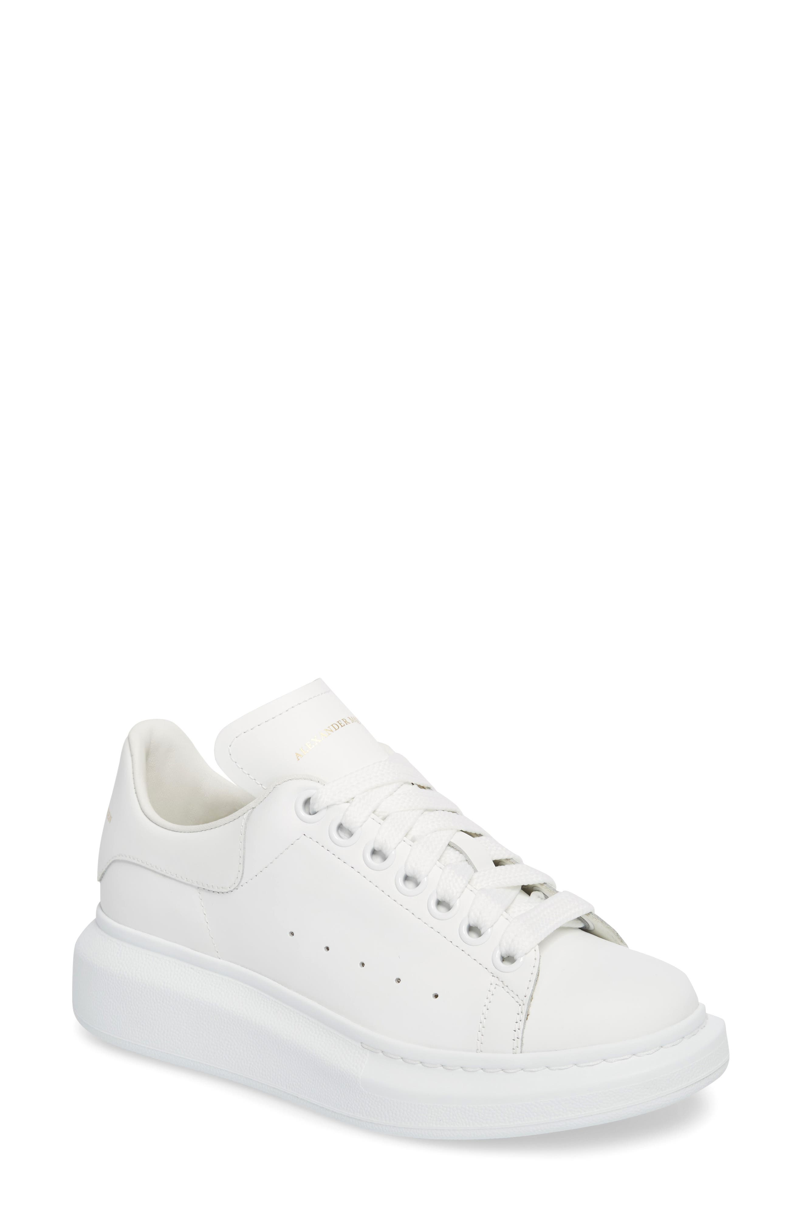ALEXANDER MCQUEEN,                             Sneaker,                             Main thumbnail 1, color,                             WHITE/ WHITE