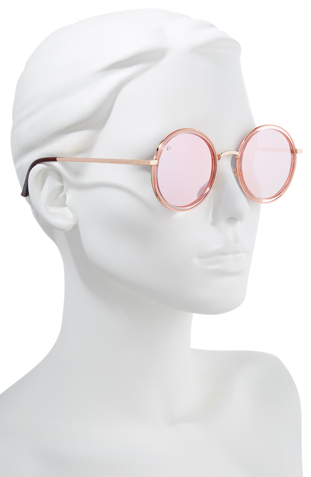 Privé Revaux x Madelaine Petsch The Street 53mm Round Sunglasses,                             Alternate thumbnail 6, color,