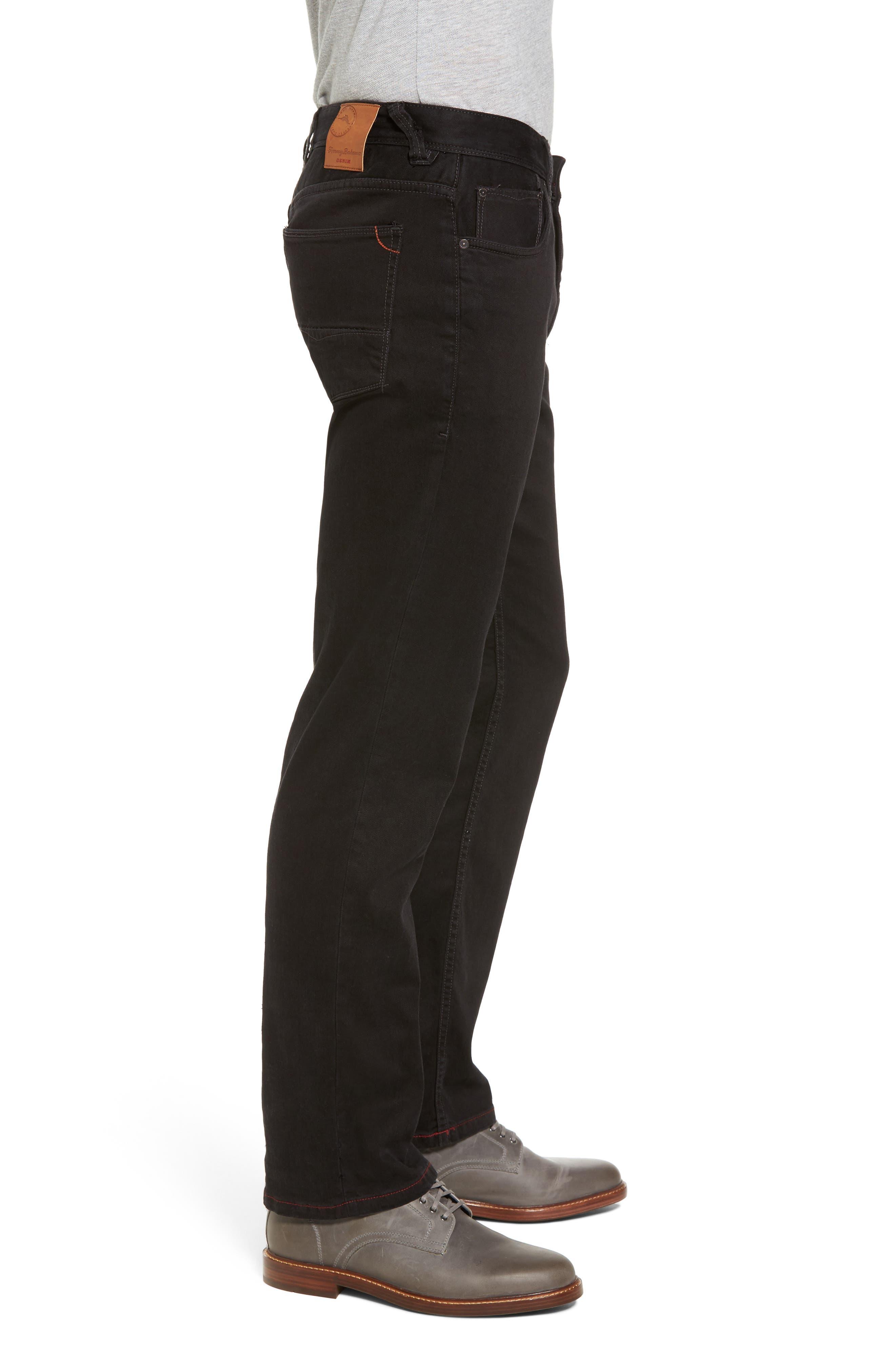 Sand Straight Leg Jeans,                             Alternate thumbnail 3, color,                             BLACK OVERDYE