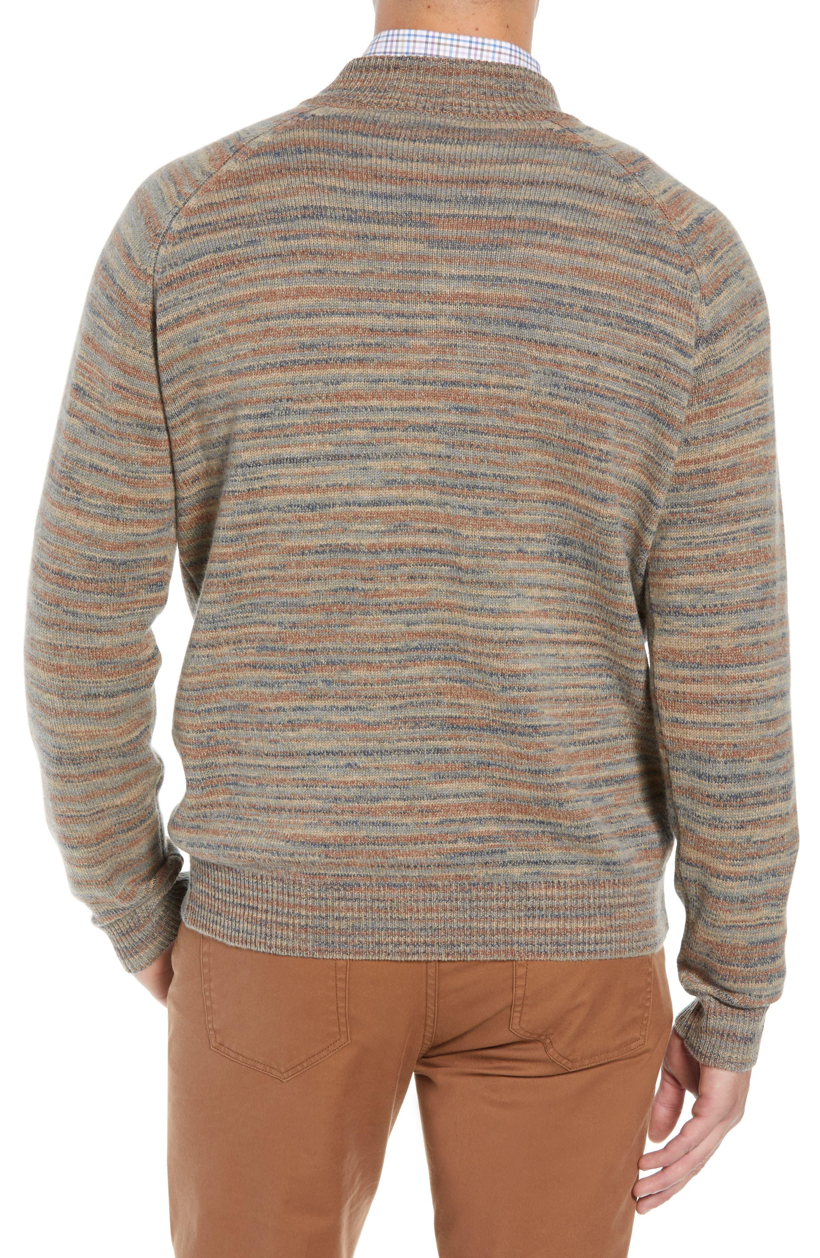 Twisted Cashmere Quarter Zip Sweater,                             Alternate thumbnail 2, color,                             BEIGE