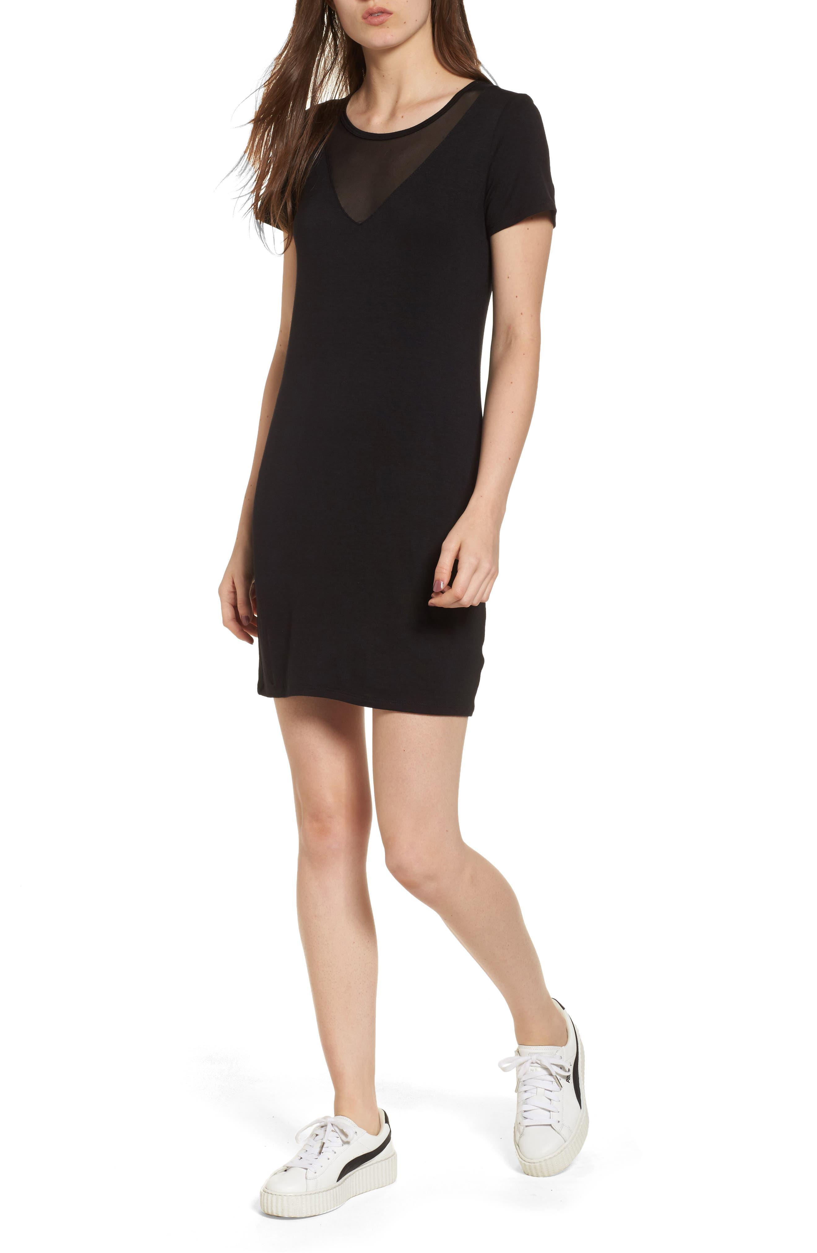 Mesh Inset Dress,                         Main,                         color,