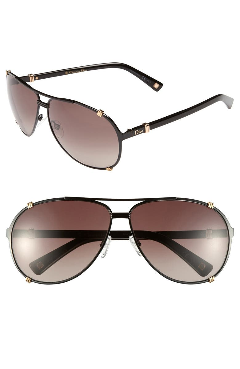 d94232e2bc5 Dior  Chicago  63mm Metal Aviator Sunglasses
